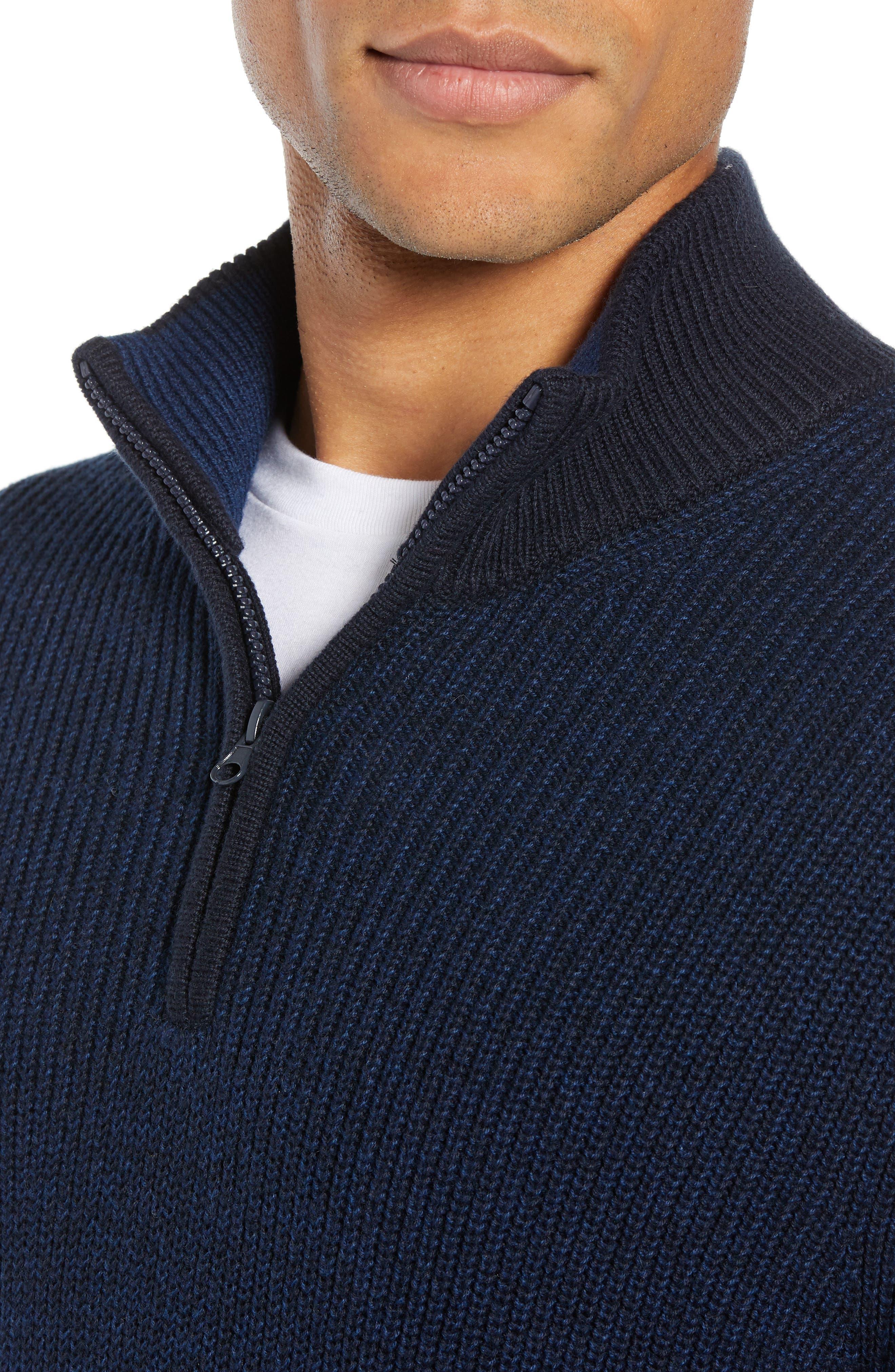 Fillmore Quarter Zip Sweater,                             Alternate thumbnail 4, color,                             NAVY