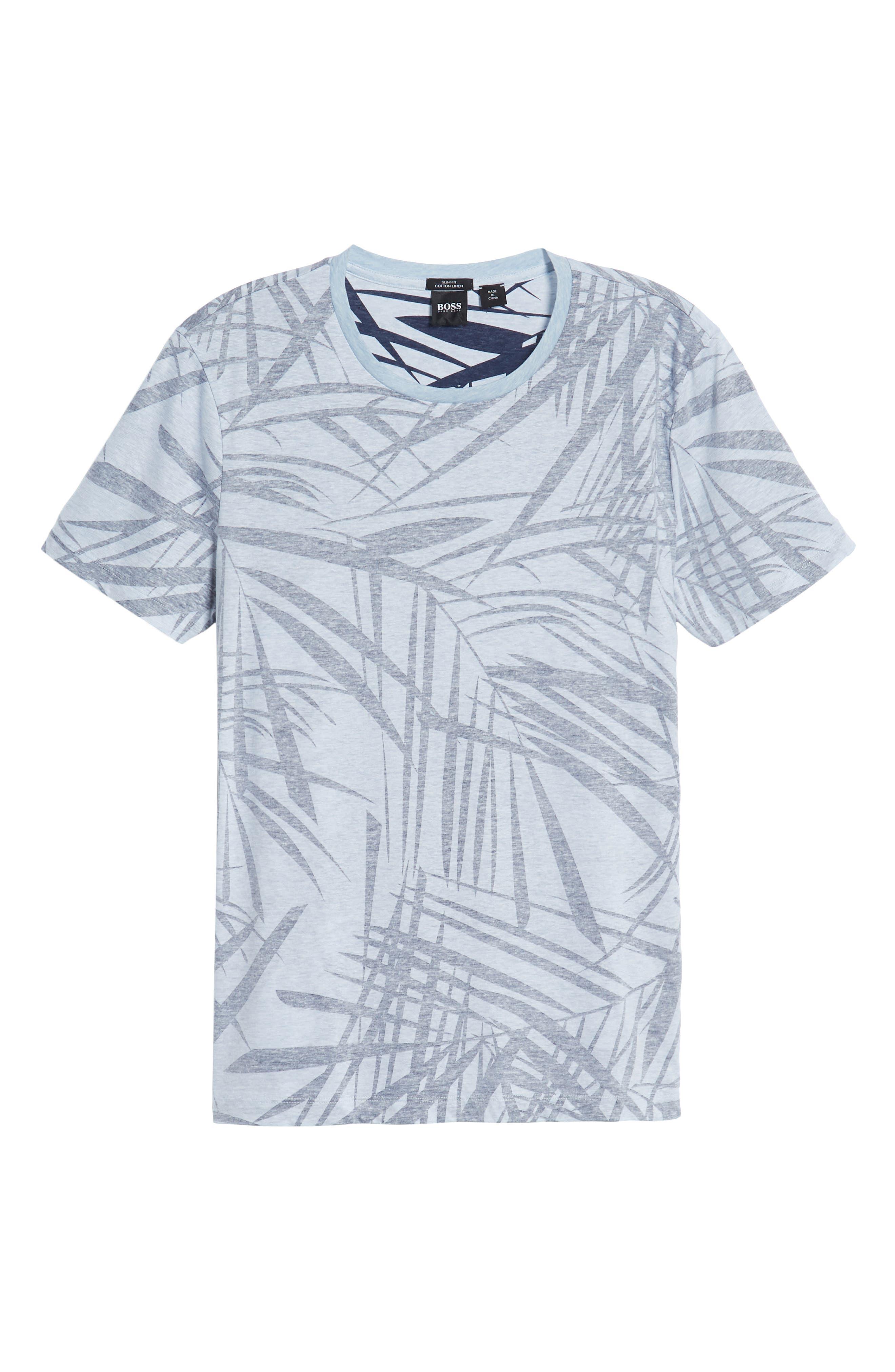 Tessler Crewneck T-Shirt,                             Alternate thumbnail 6, color,                             BLUE