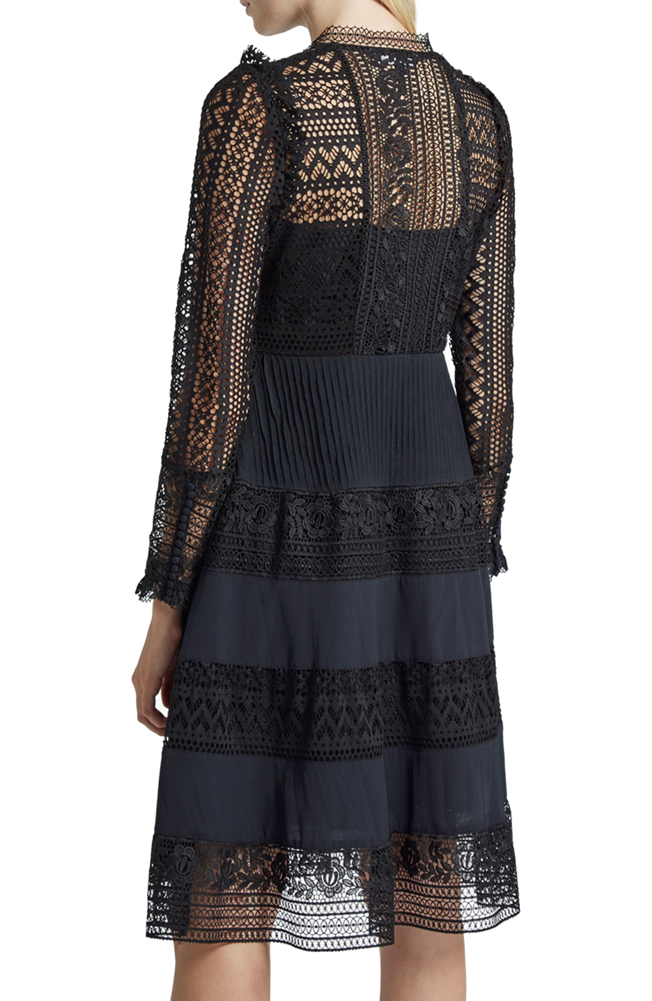 Orabelle Lace Fit & Flare Dress,                             Alternate thumbnail 2, color,
