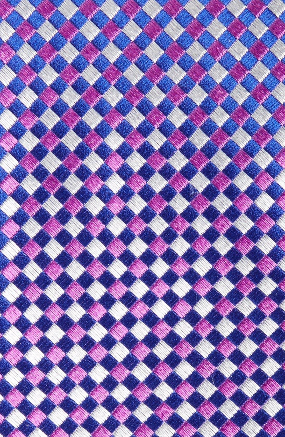 Check Silk Tie,                             Alternate thumbnail 21, color,