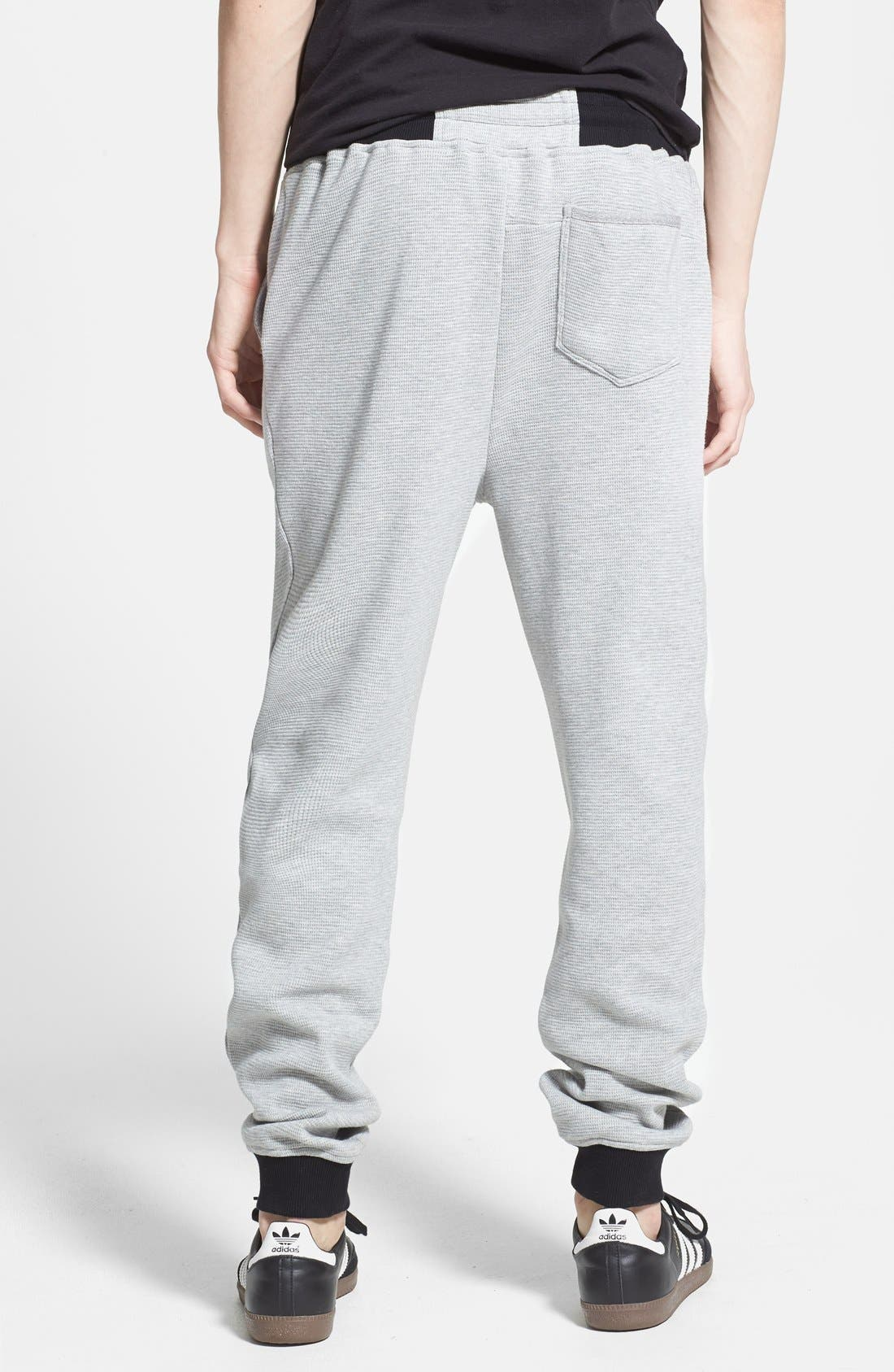 Waffle Knit Jogger Sweatpants,                             Alternate thumbnail 2, color,                             021