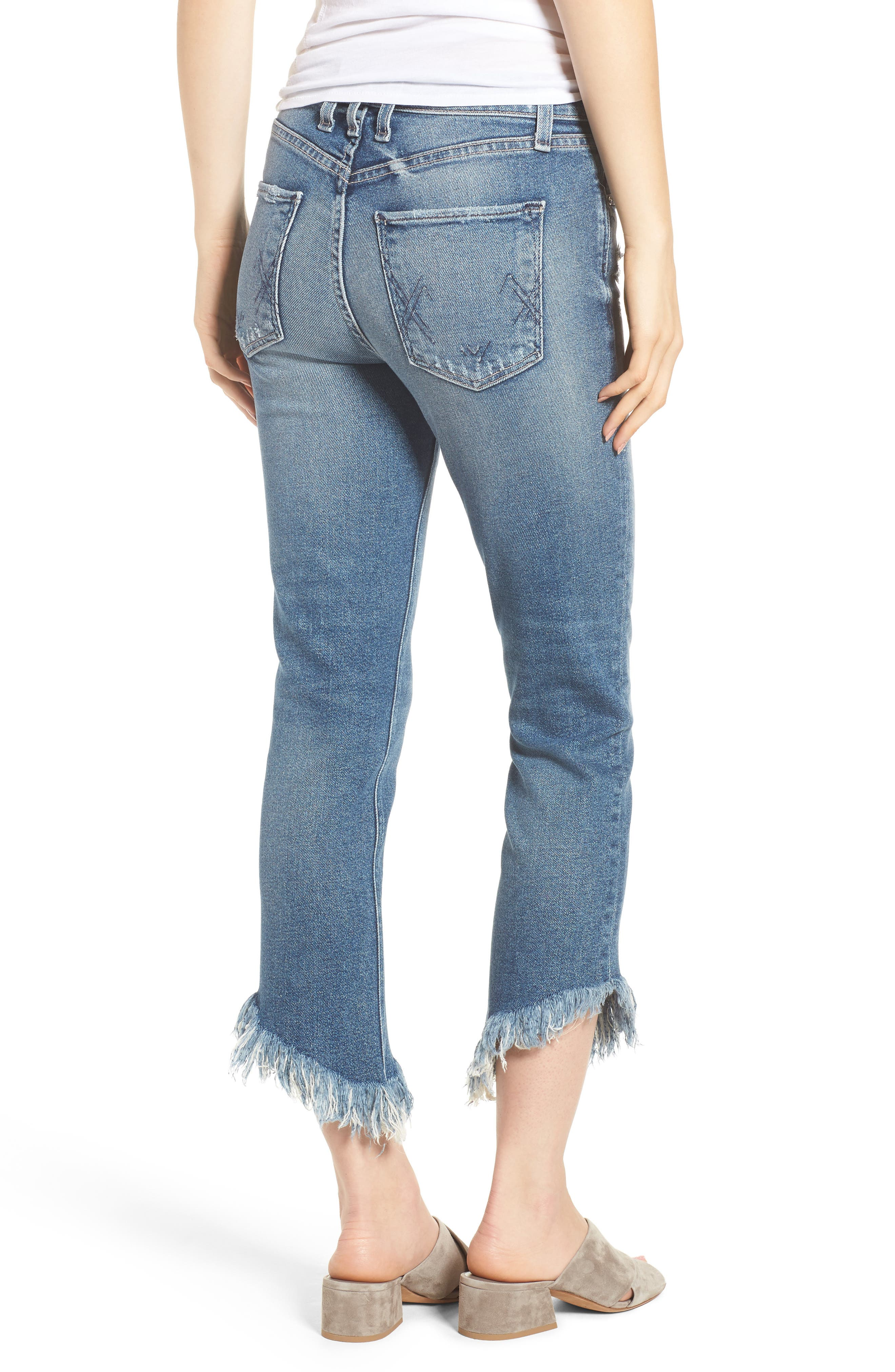 Valletta High Waist Crop Straight Leg Jeans,                             Alternate thumbnail 2, color,                             450