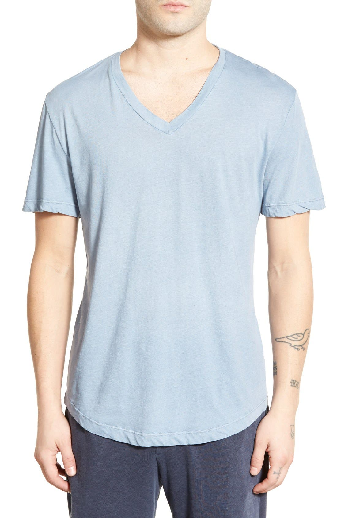 'Clear Jersey' Mélange V-Neck T-Shirt,                             Main thumbnail 10, color,
