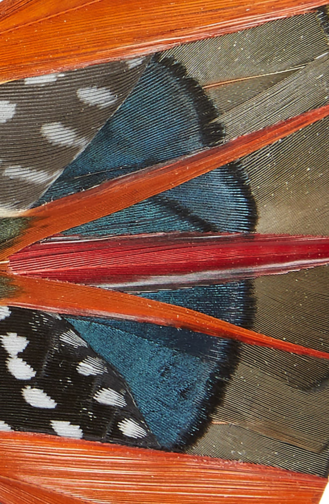 Mayfly Feather Bow Tie,                             Alternate thumbnail 2, color,                             ORANGE
