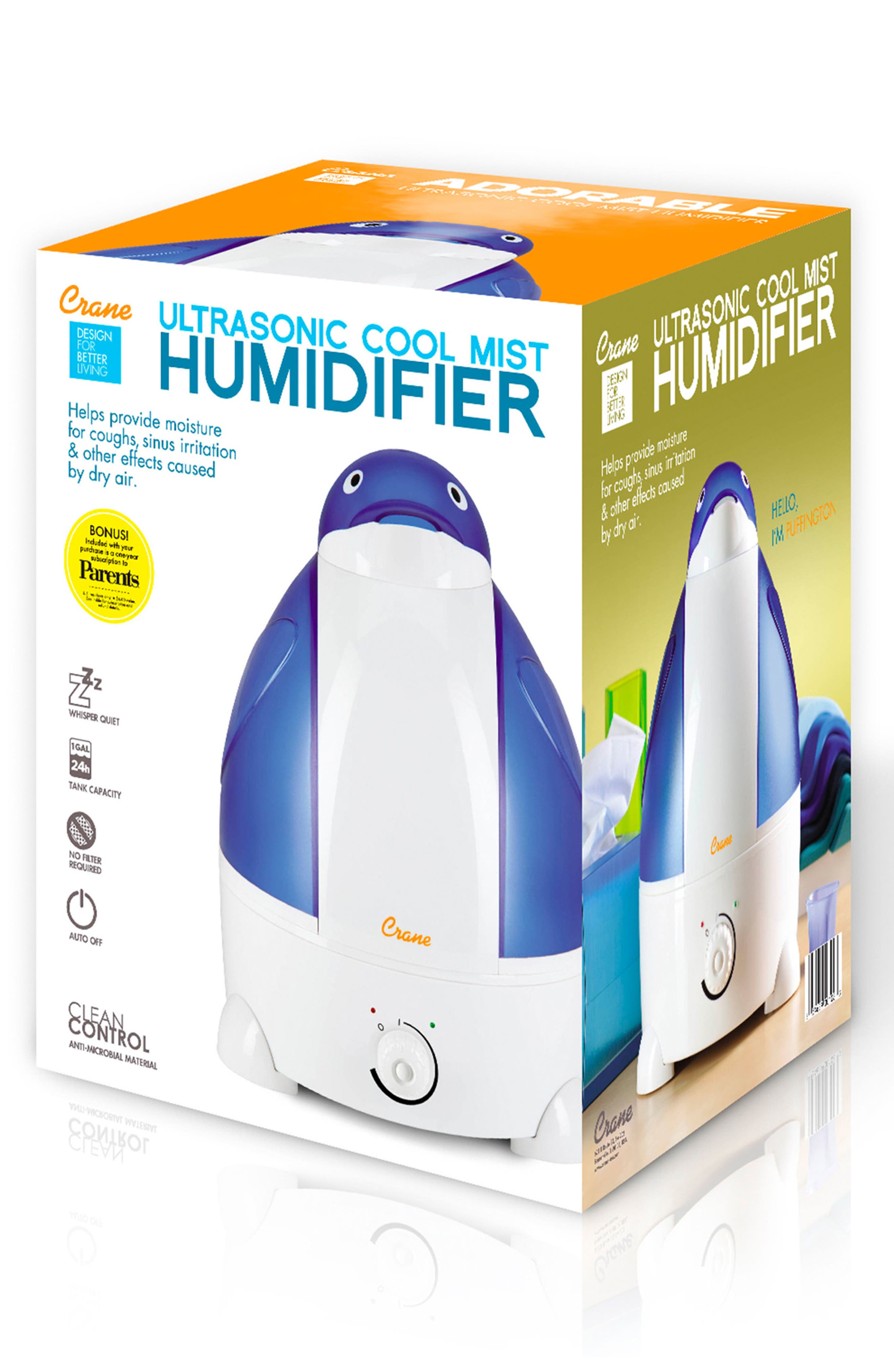 Penguin Ultrasonic Cool-Mist Humidifier,                             Alternate thumbnail 2, color,                             BLUE