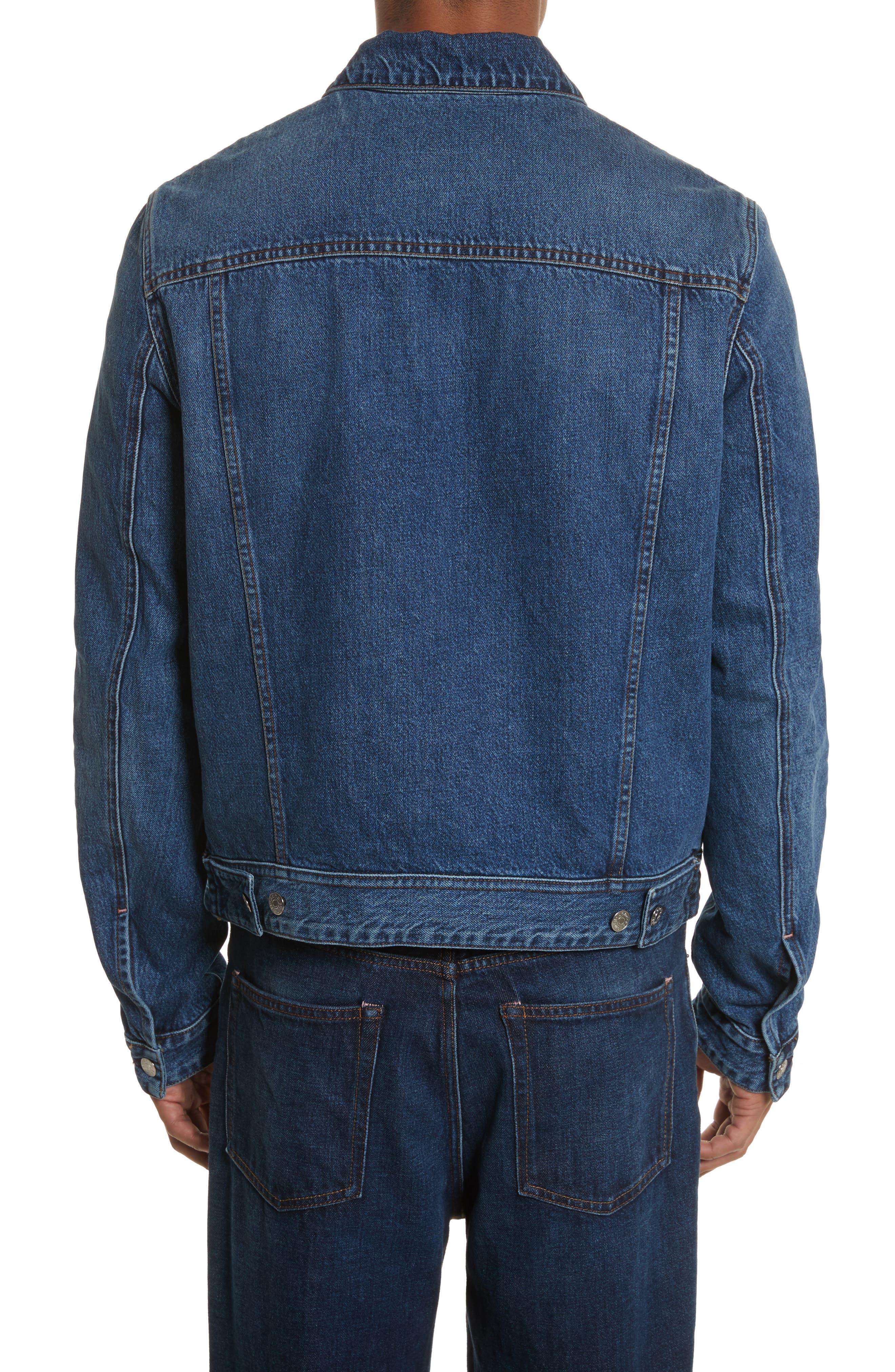 Denim Jacket,                             Alternate thumbnail 2, color,                             MID BLUE