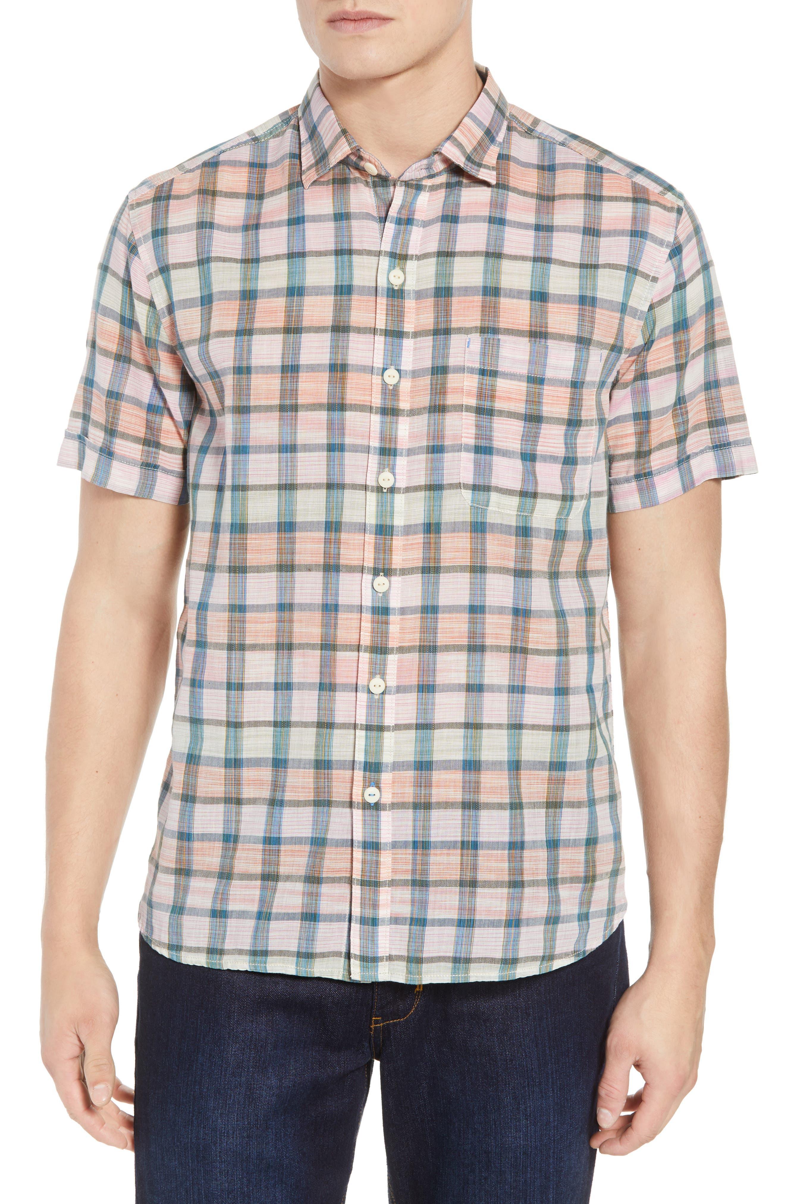 Pico Plaid Sport Shirt,                         Main,                         color, 800