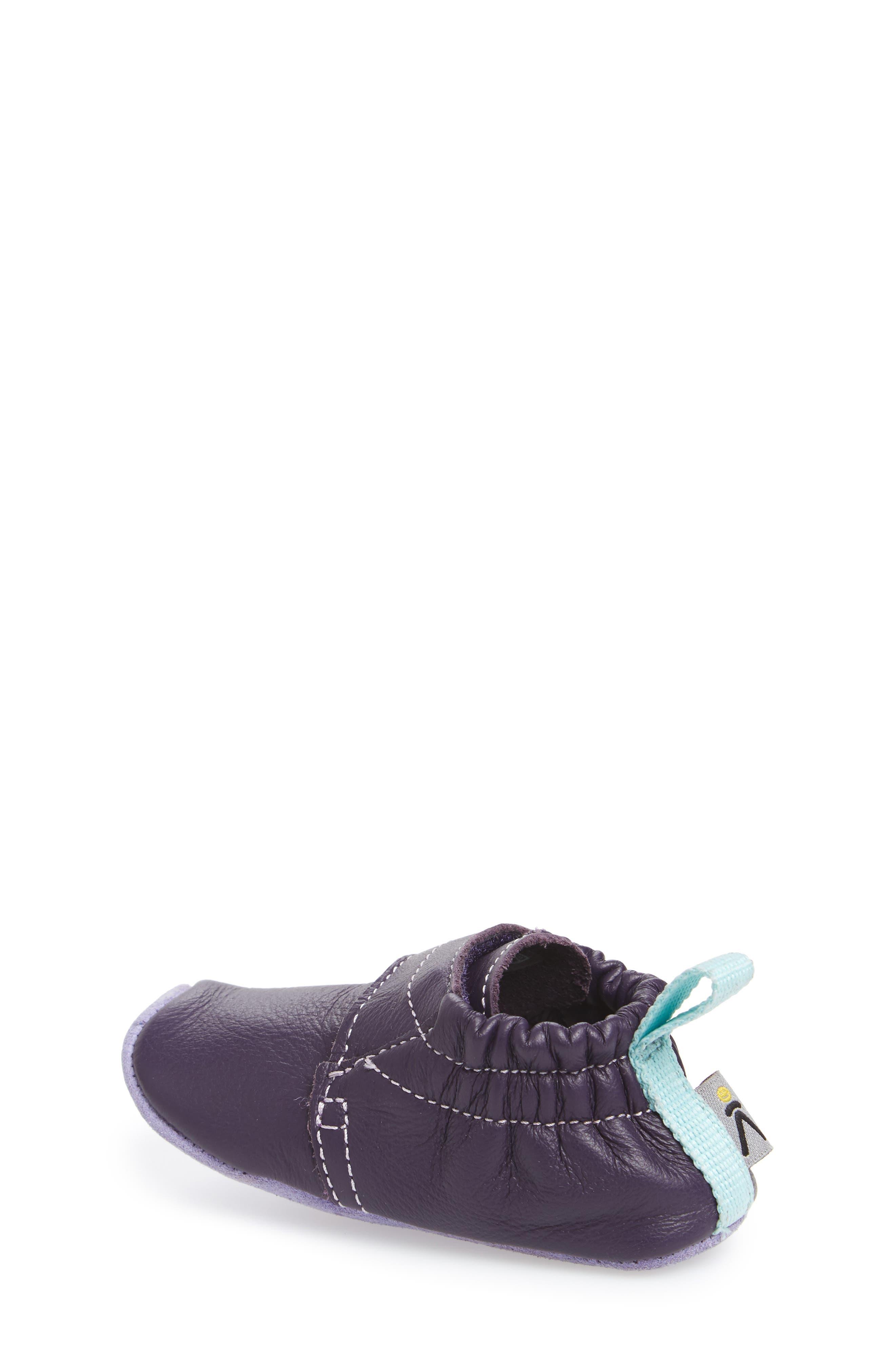Leo Crib Shoe,                             Alternate thumbnail 2, color,                             PURPLE / SWEET LAVENDER