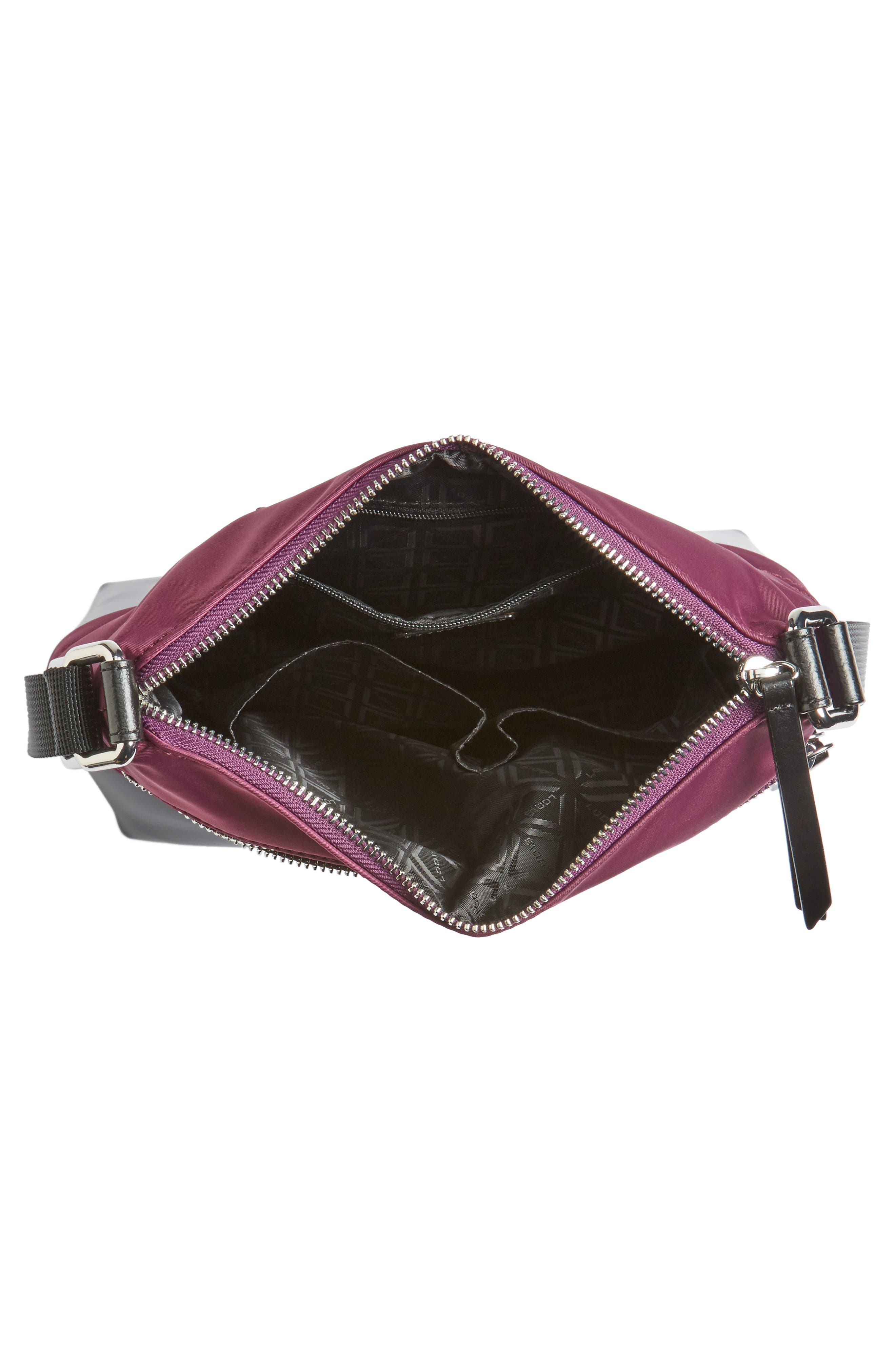 Wanda RFID Nylon & Leather Crossbody Bag,                             Alternate thumbnail 4, color,                             500