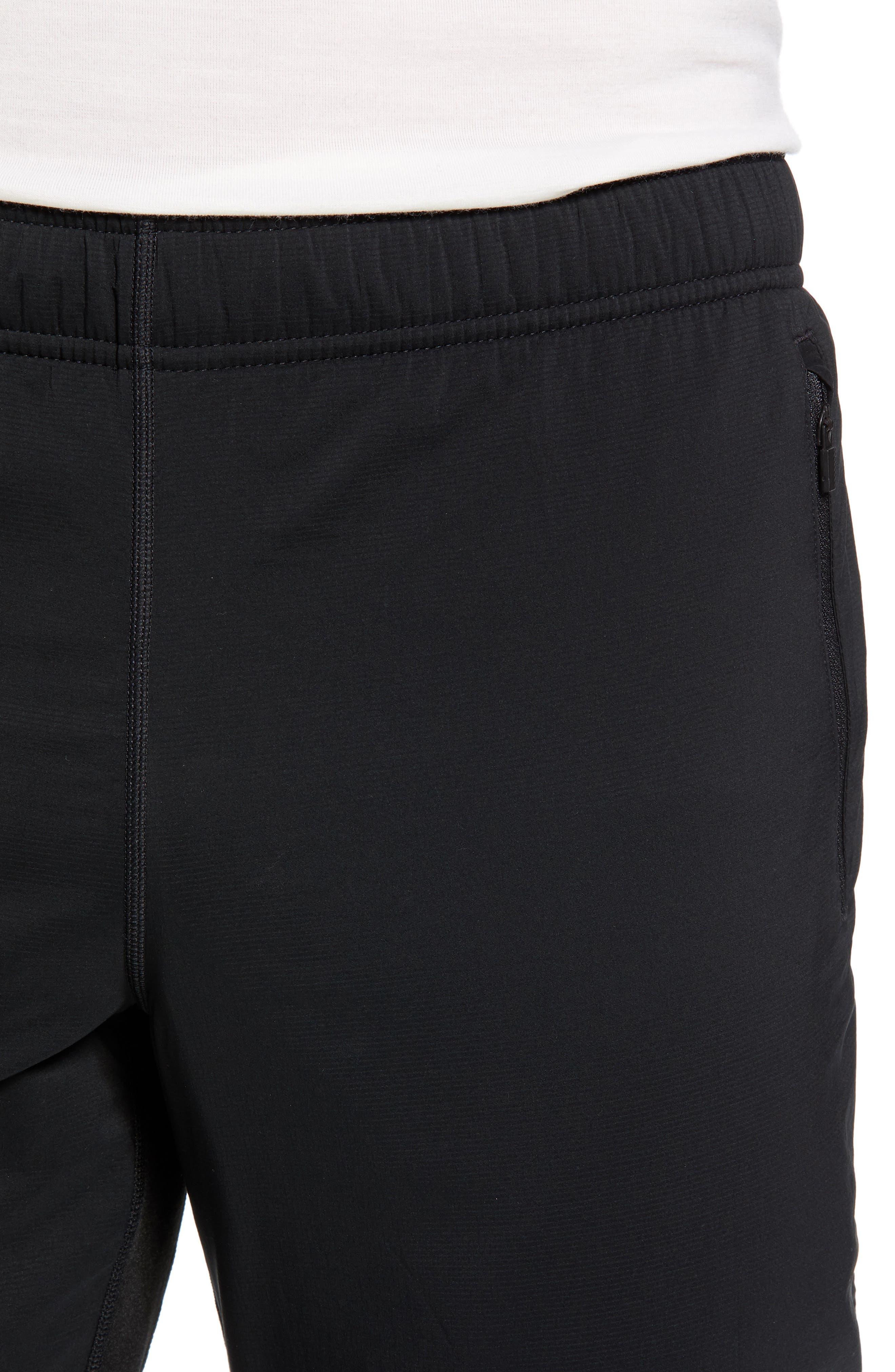 Tech Trainer Hybrid Sport Pants,                             Alternate thumbnail 4, color,                             BLACK