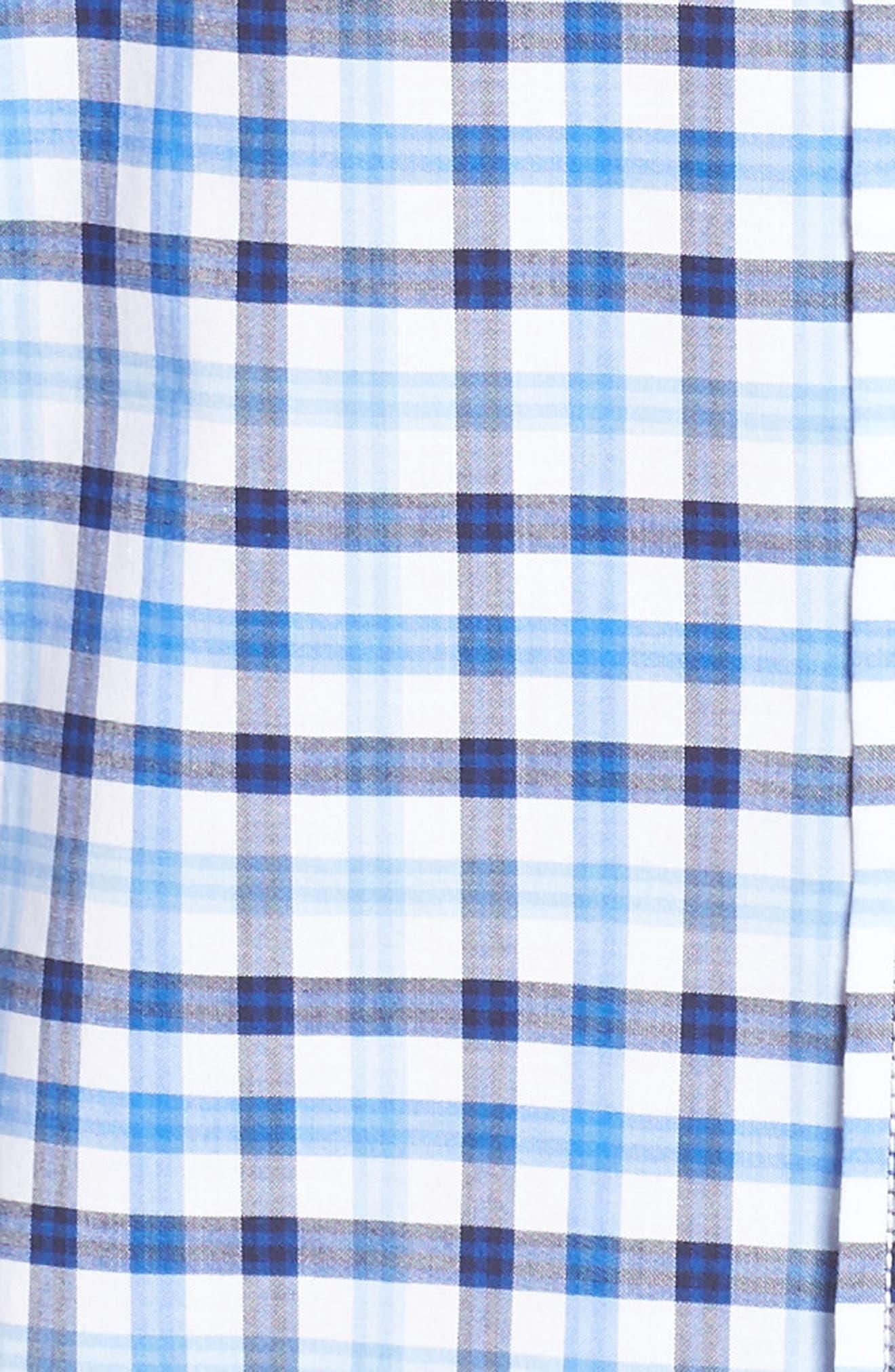 Classic Fit Check Sport Shirt,                             Alternate thumbnail 5, color,