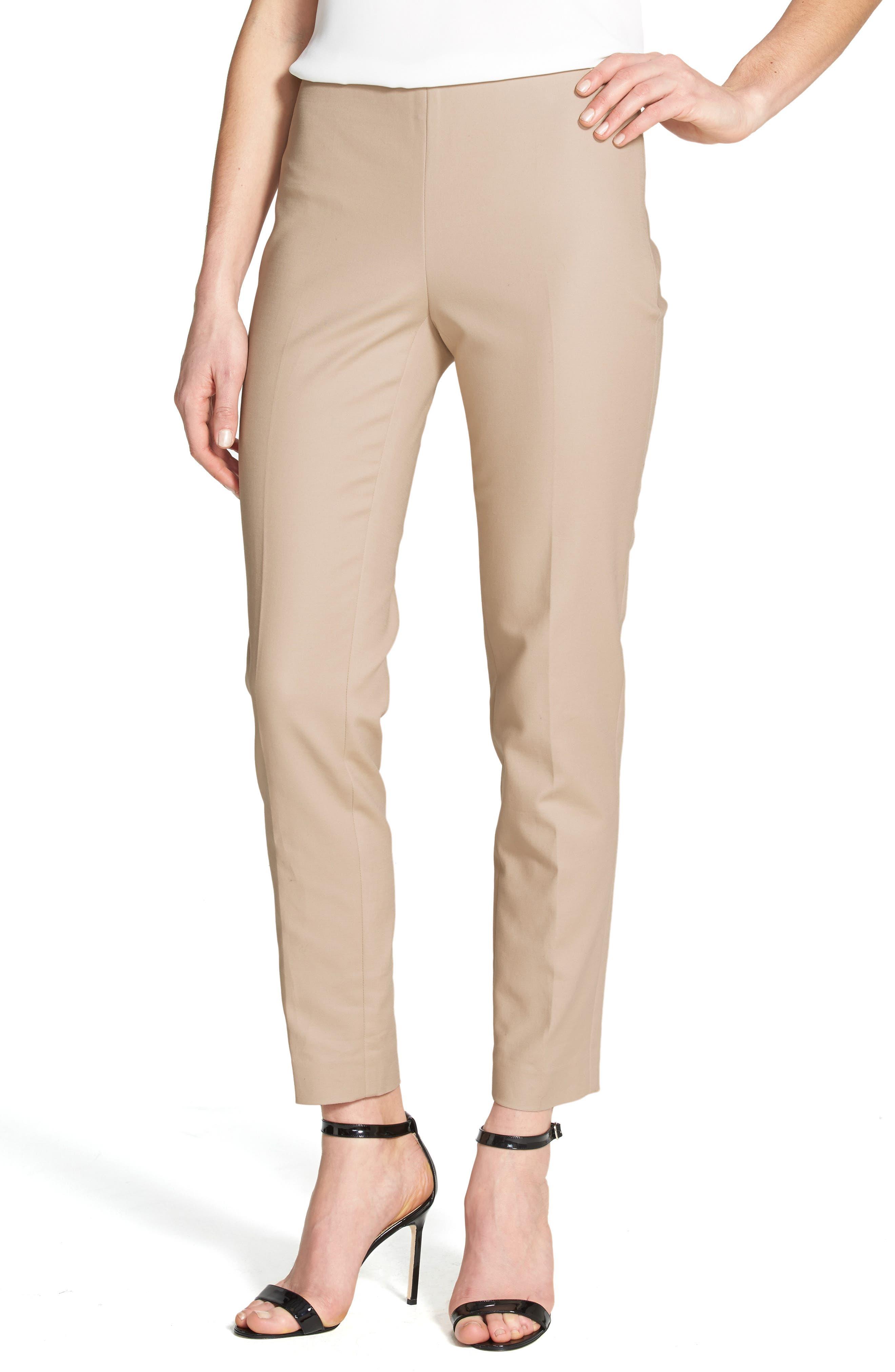 Side Zip Double Weave Pants,                             Alternate thumbnail 49, color,