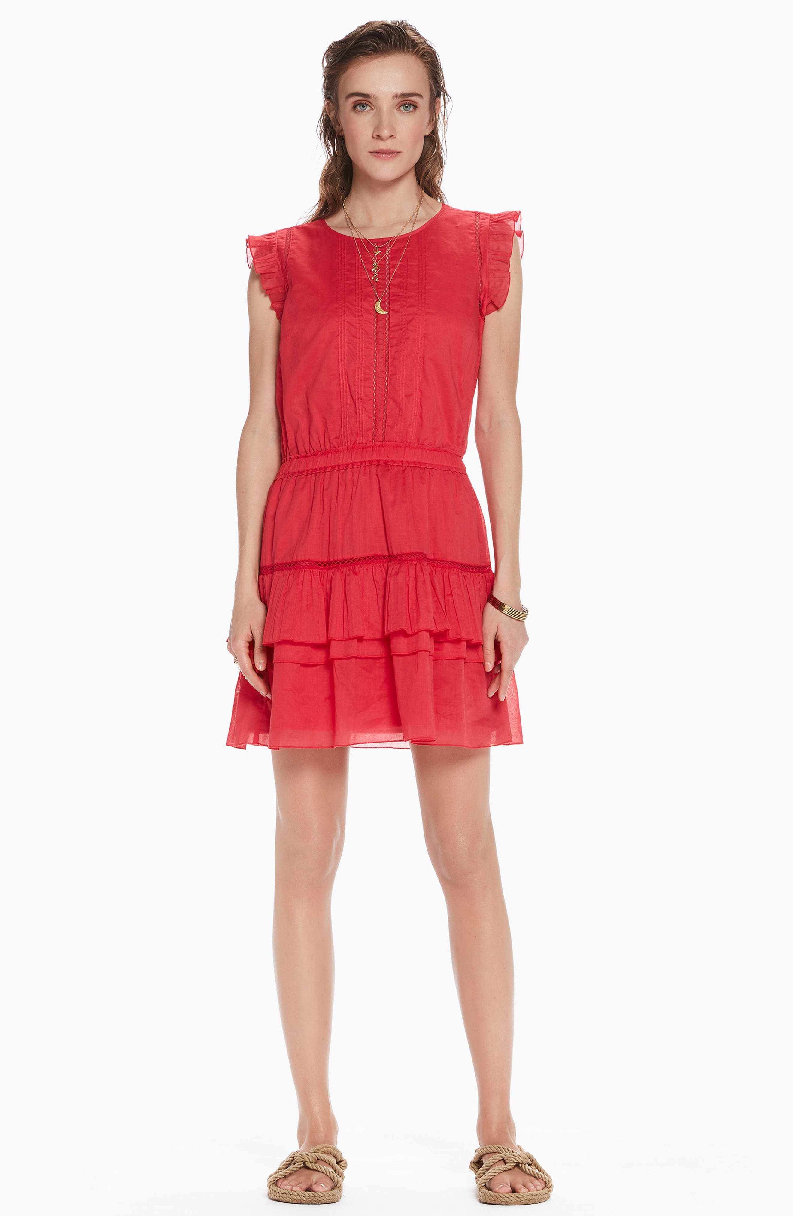 SCOTCH & SODA,                             Tiered Sleeveless Dress,                             Alternate thumbnail 7, color,                             600