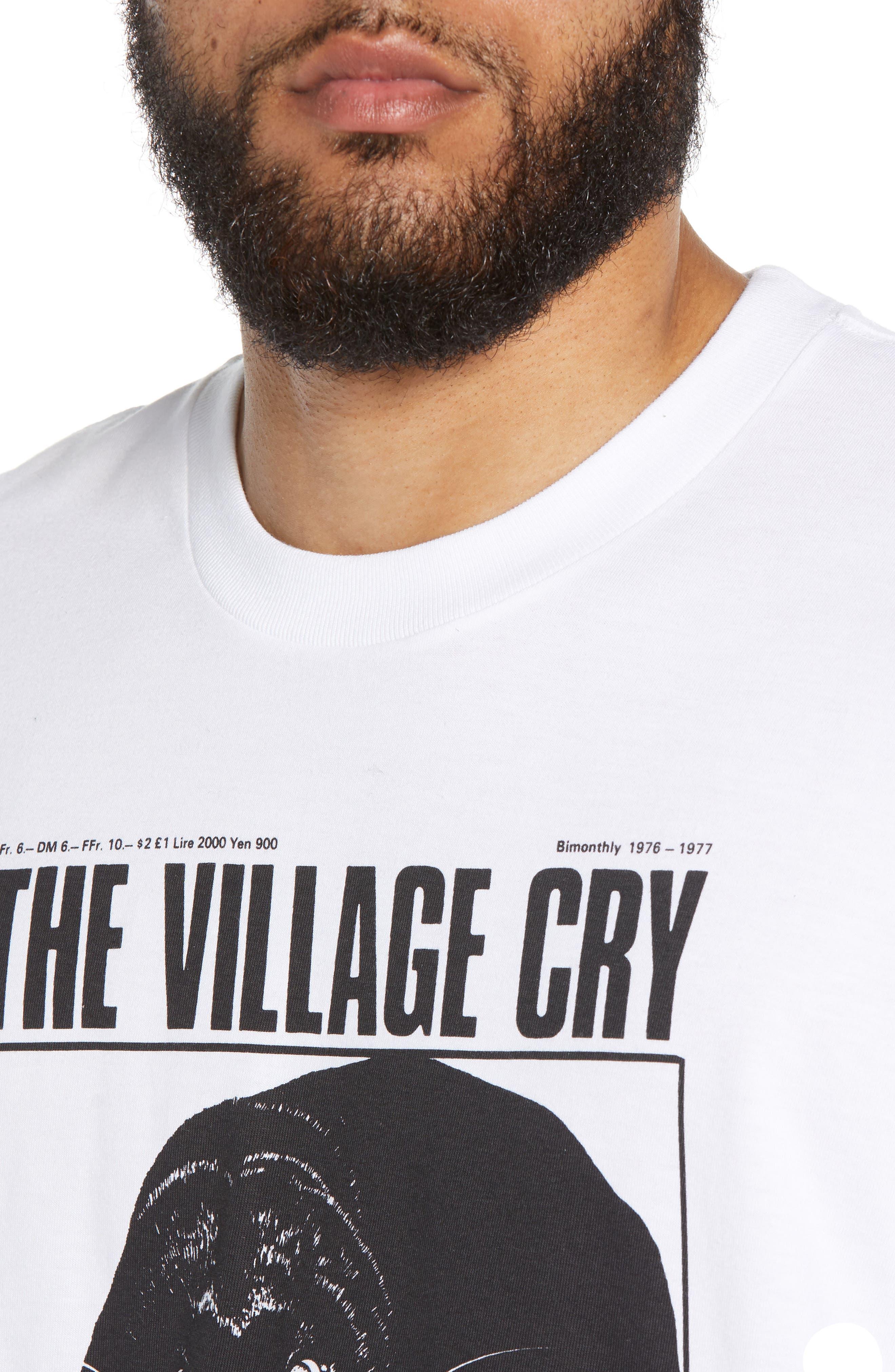 Panther Graphic T-Shirt,                             Alternate thumbnail 4, color,                             WHITE / BLACK