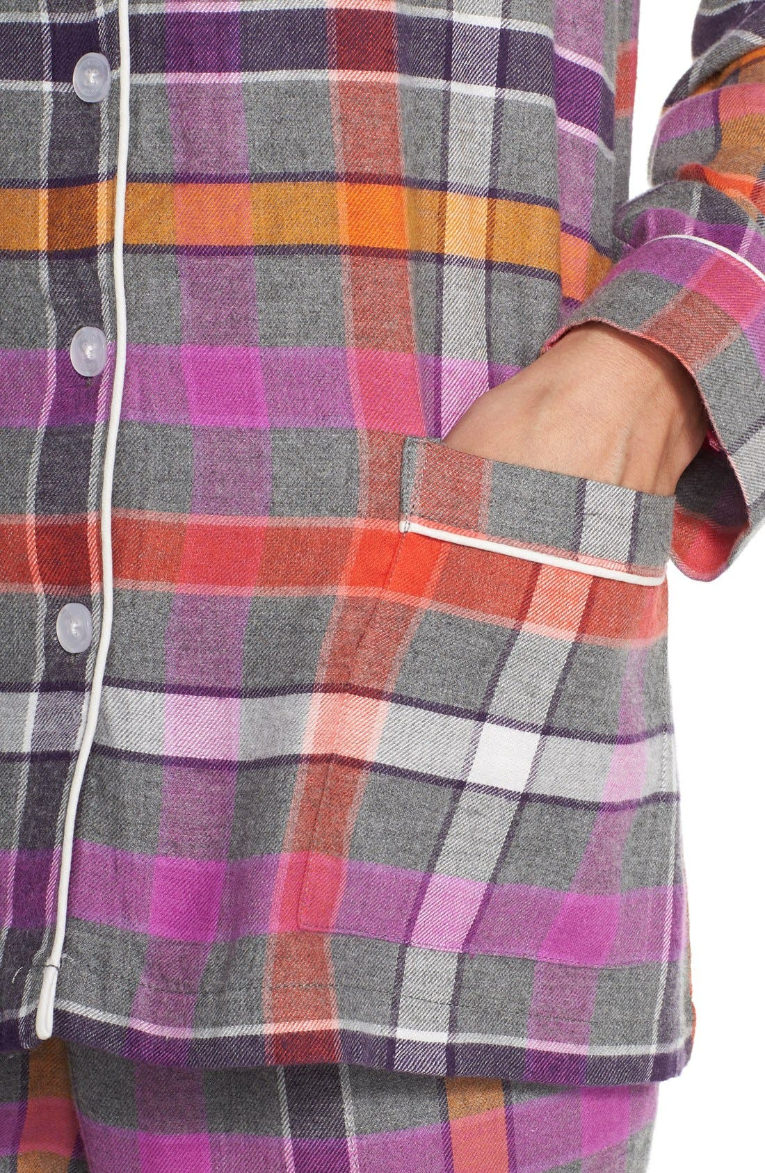 Flannel Pajamas,                             Alternate thumbnail 2, color,                             060