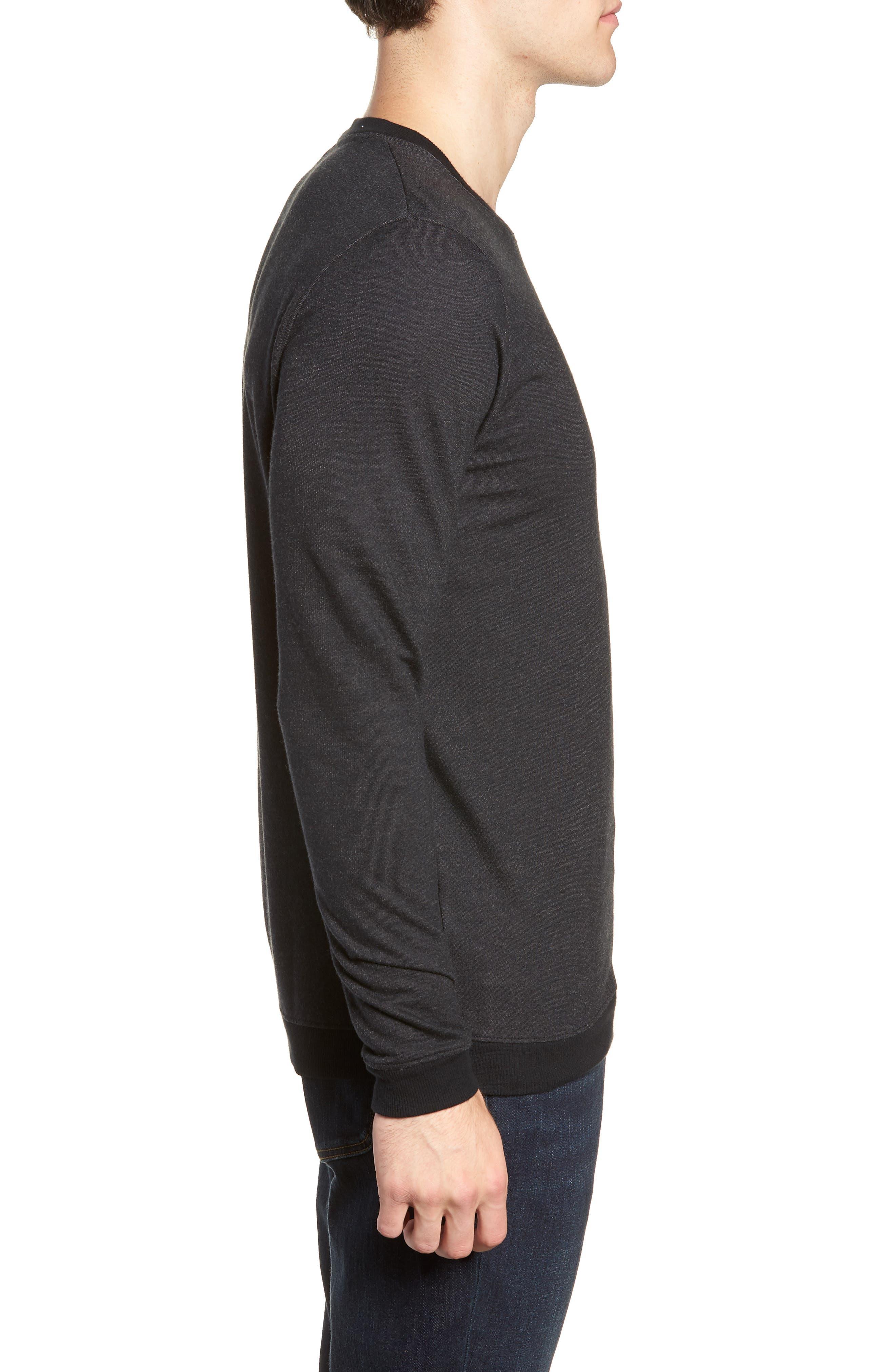 Lanegan Long Sleeve T-Shirt,                             Alternate thumbnail 3, color,                             BLACK/ WINETASTING