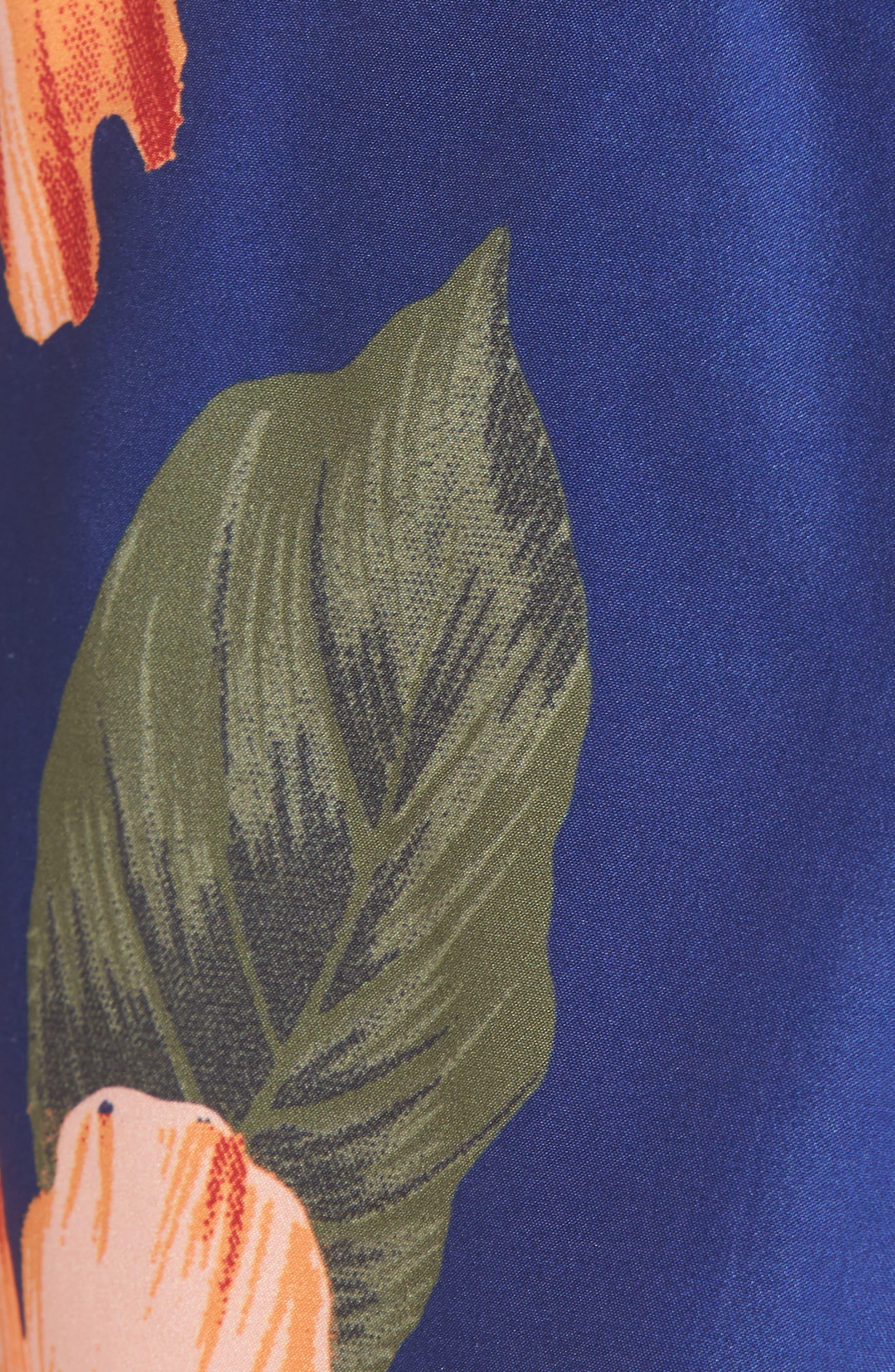 Wela Hawaiian Slim Fit Swim Trunks,                             Alternate thumbnail 5, color,                             401