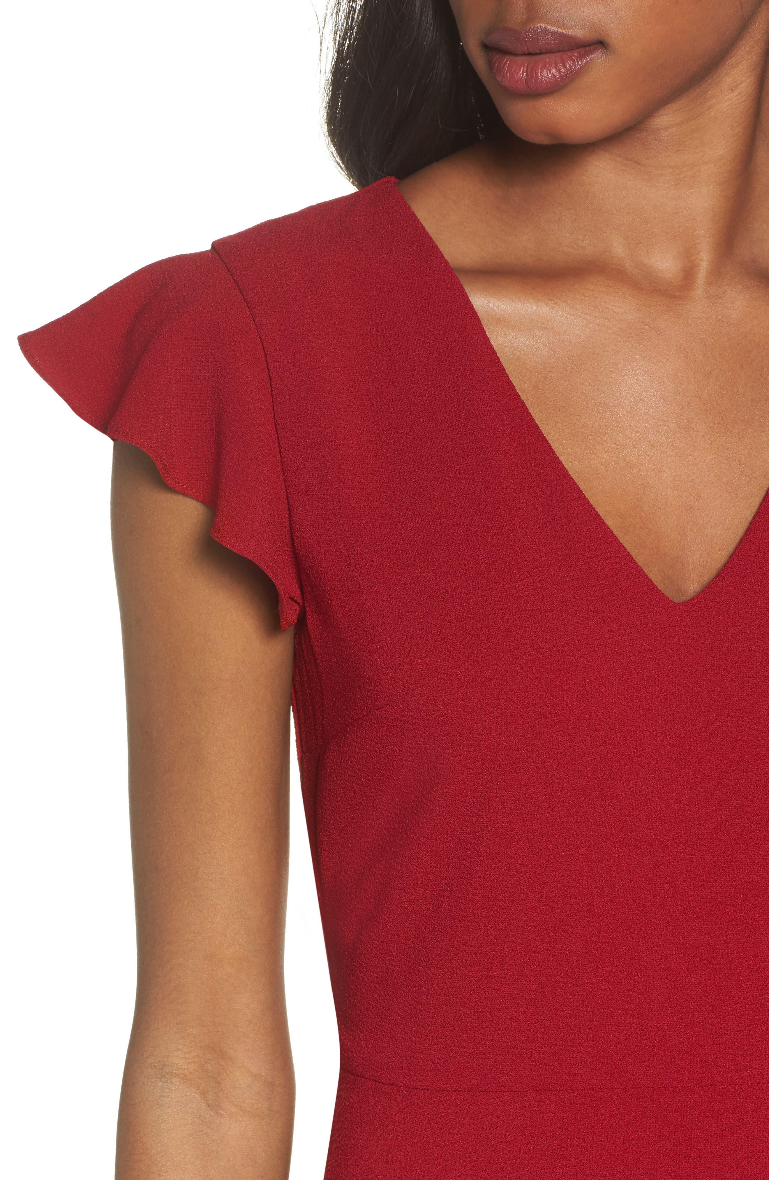 Fit & Flare Dress,                             Alternate thumbnail 4, color,                             930