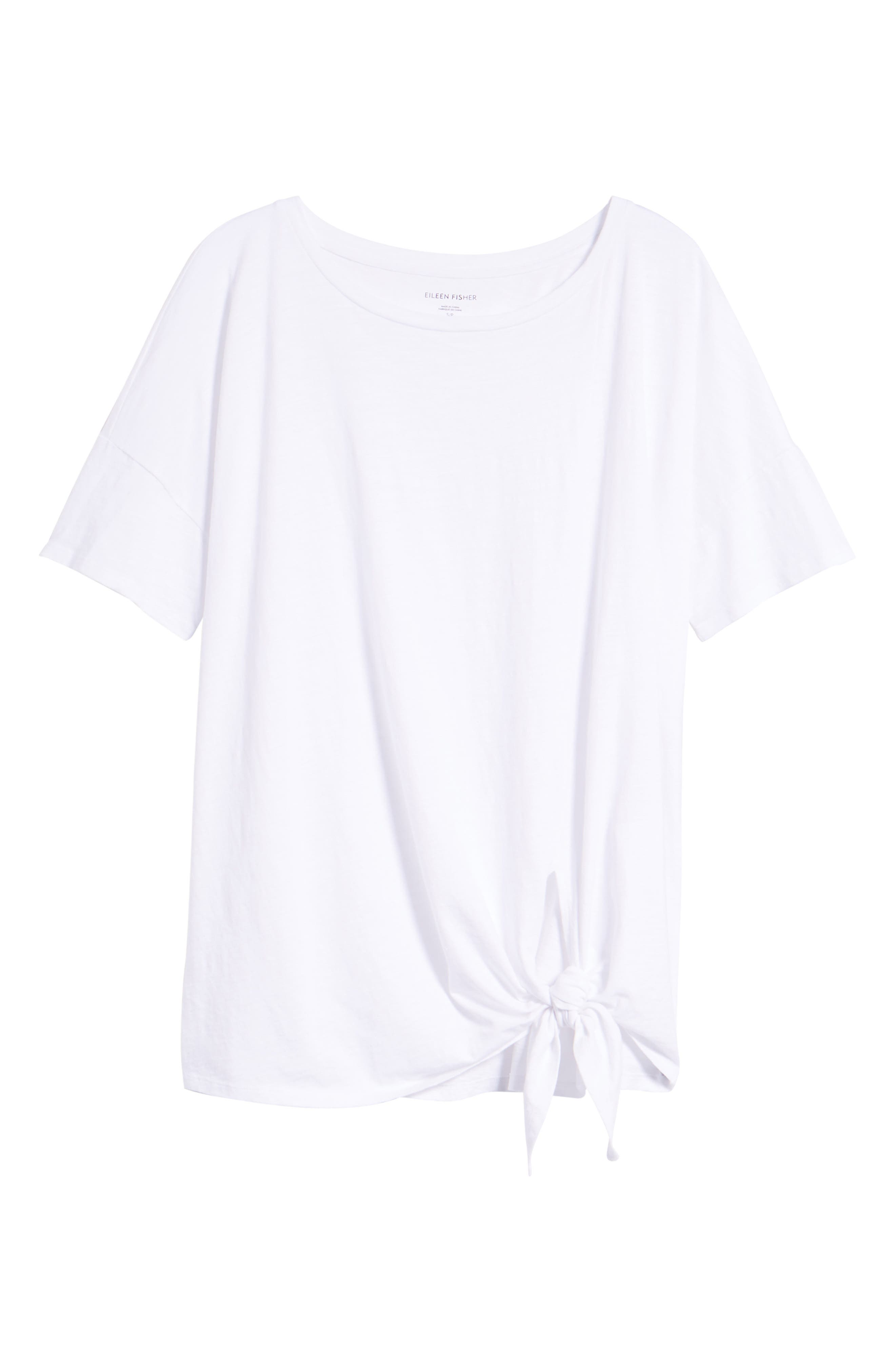 Tie Hem Organic Cotton Tee,                             Alternate thumbnail 28, color,