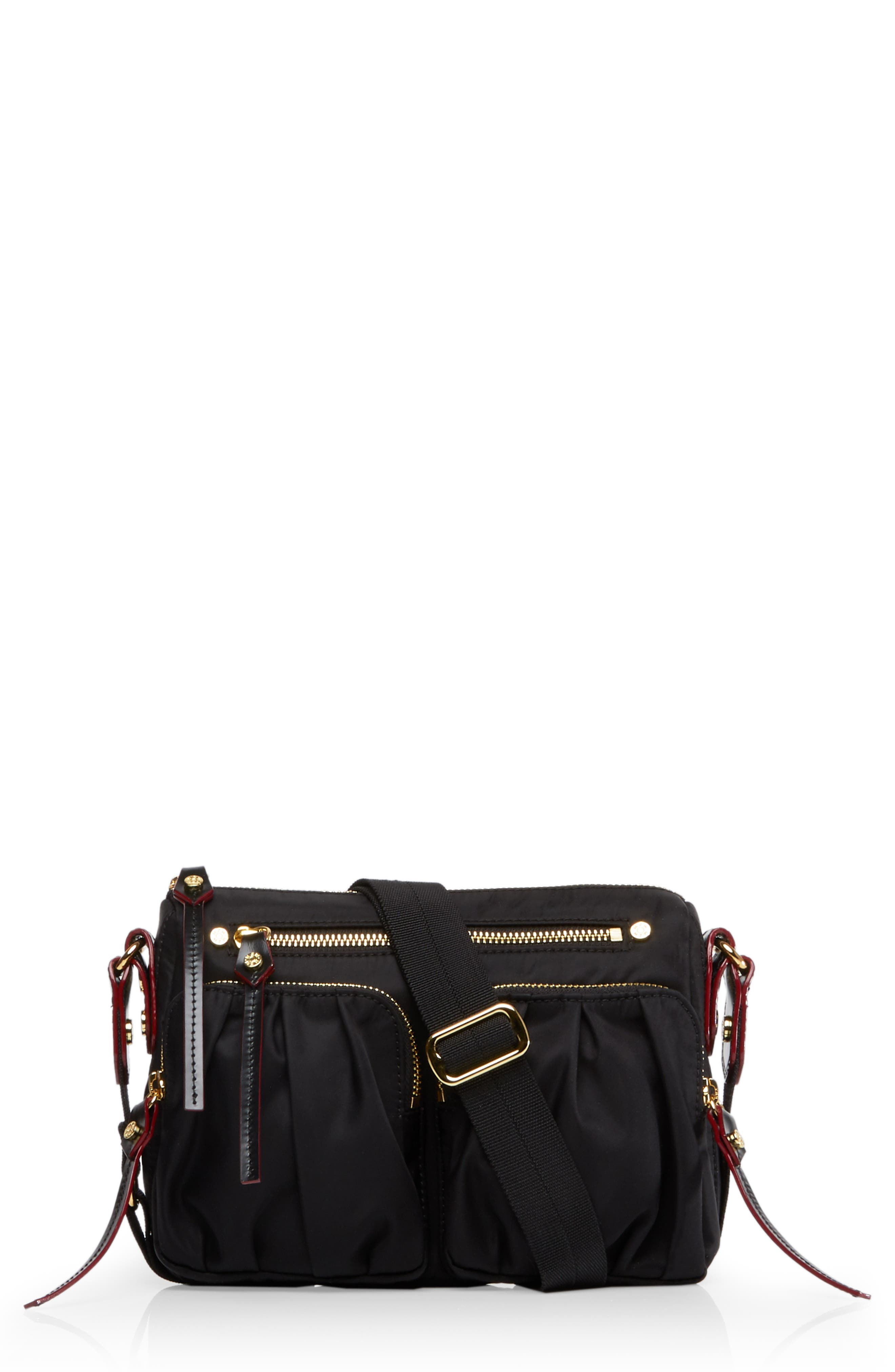 Mini Paige Crossbody Bag, Main, color, BLACK BEDFORD
