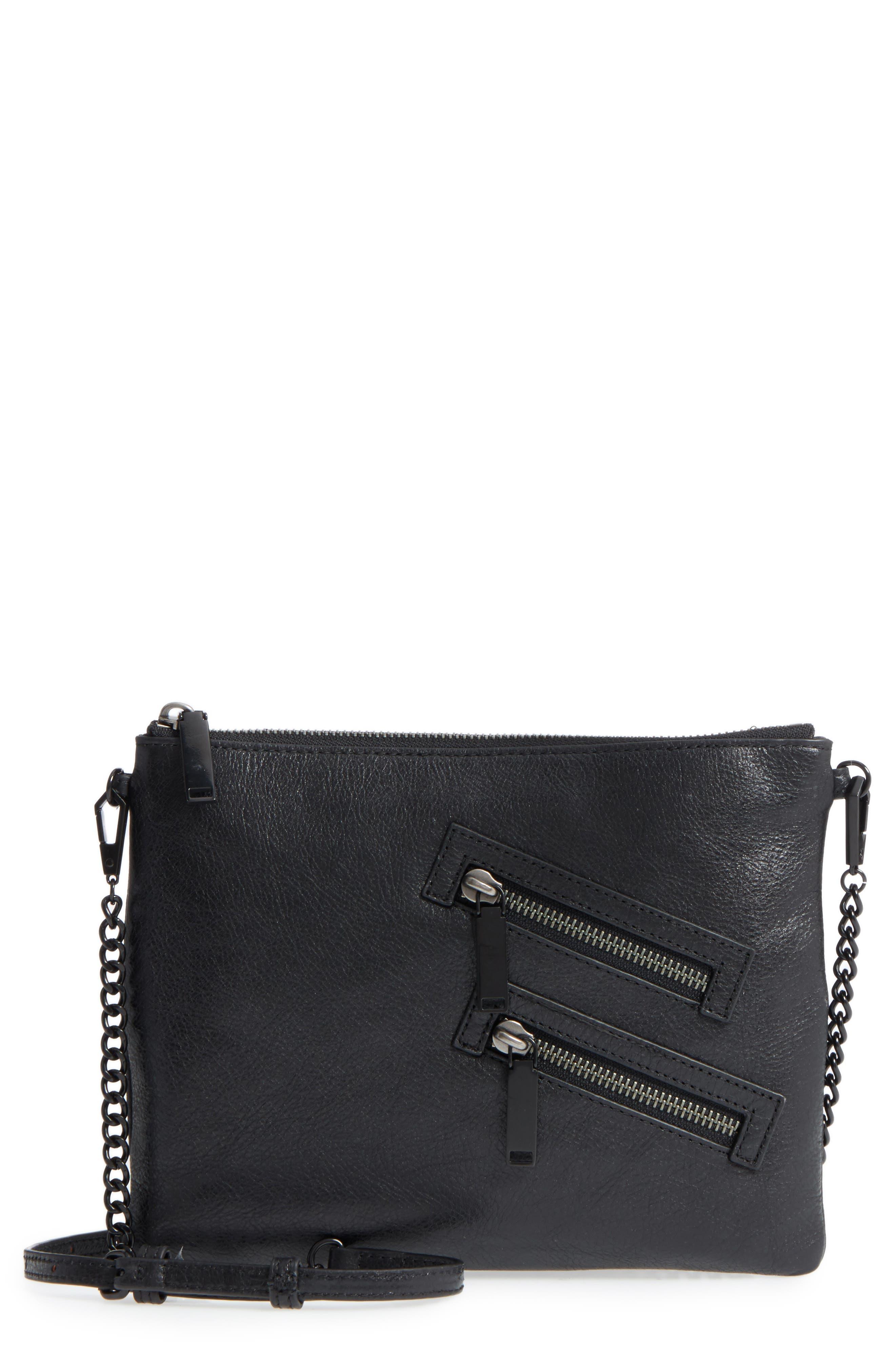 Jon Leather Crossbody Bag,                             Main thumbnail 1, color,                             001
