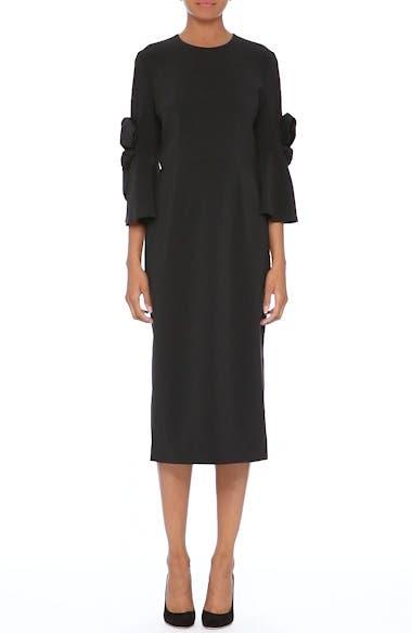 Lavete Stretch Crepe Midi Dress, video thumbnail