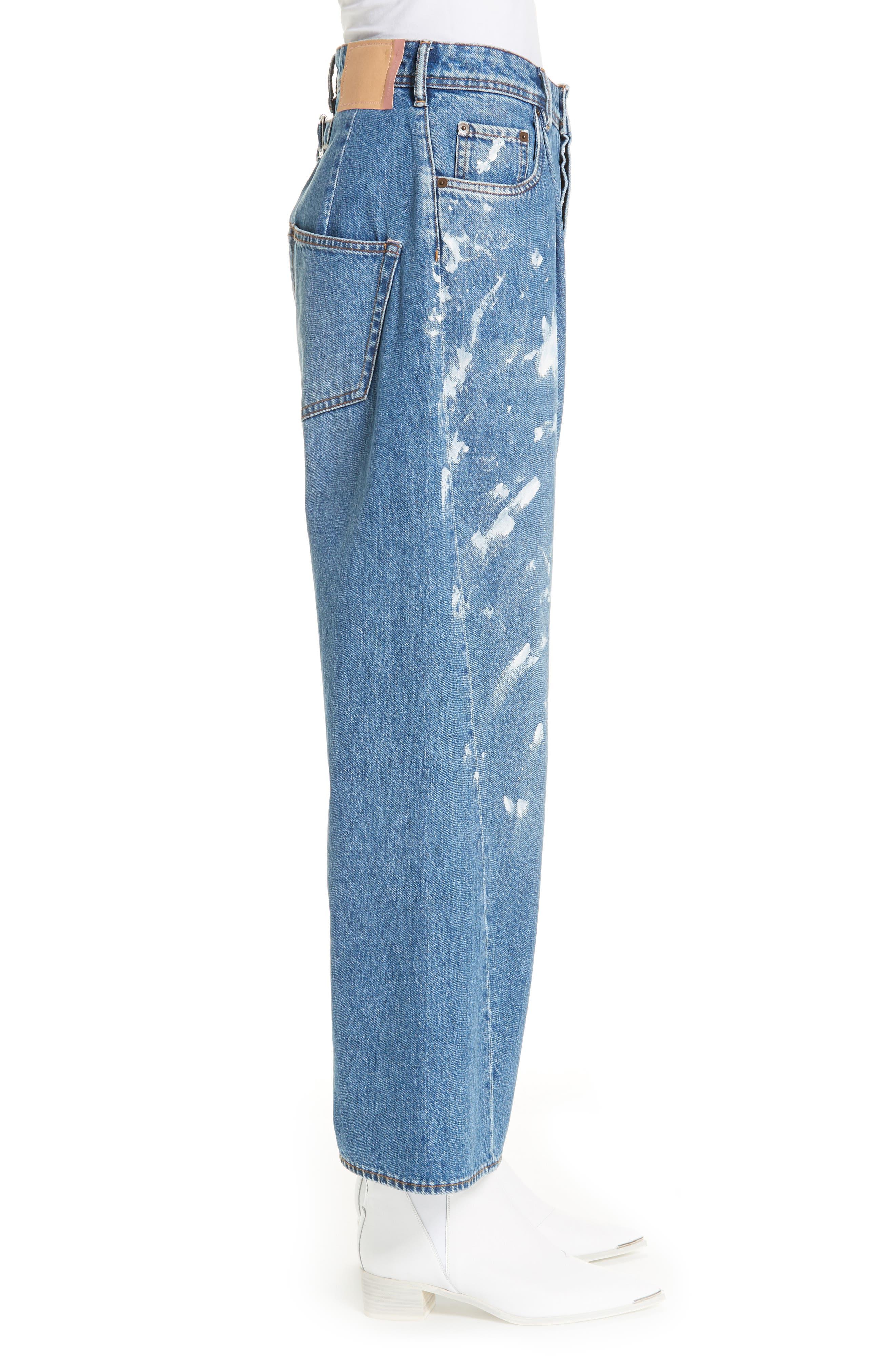 ACNE STUDIOS,                             Oversized Jeans,                             Alternate thumbnail 3, color,                             400