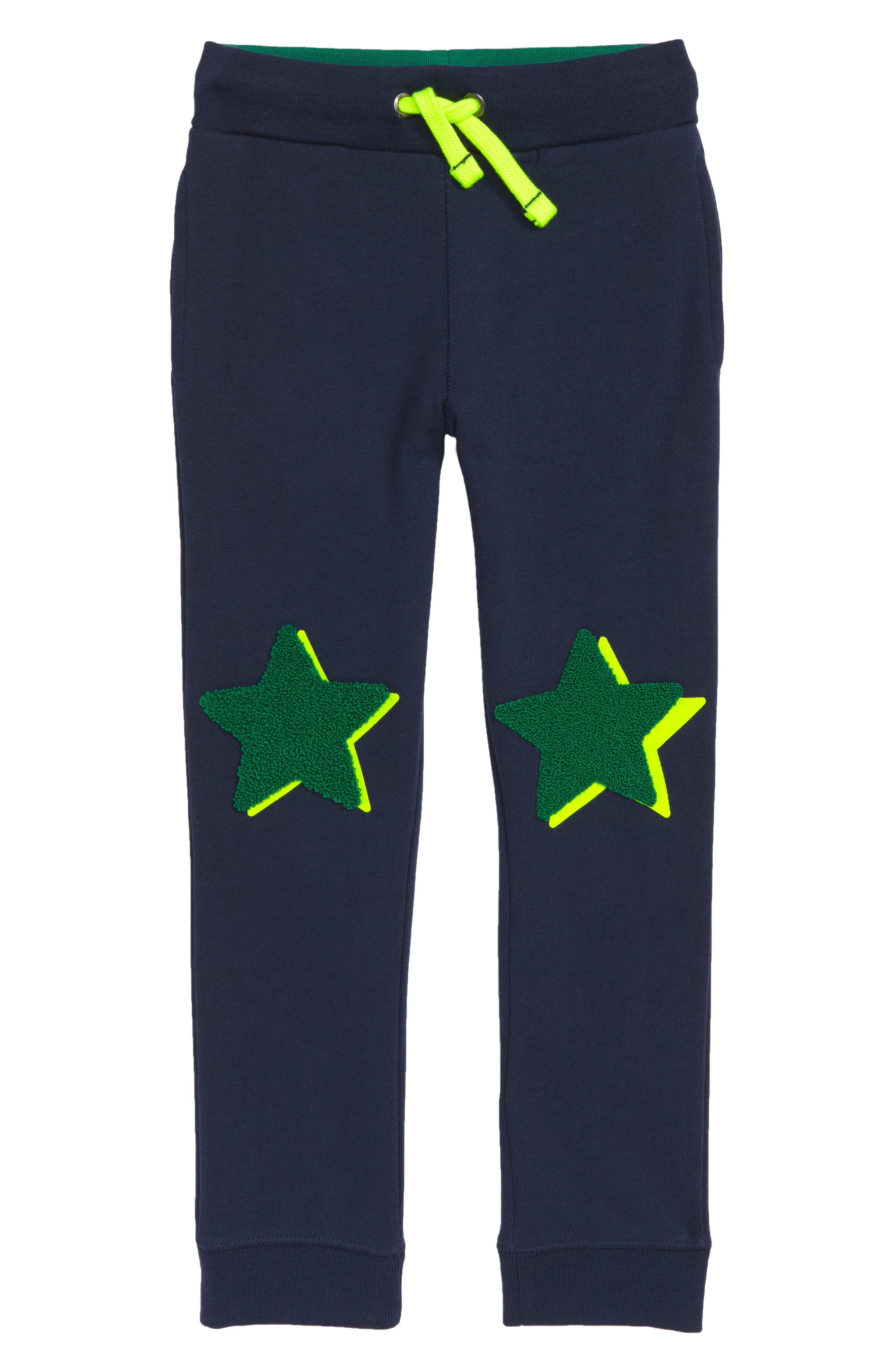 Appliqué Jogger Pants,                         Main,                         color, SCHOOL NAVY
