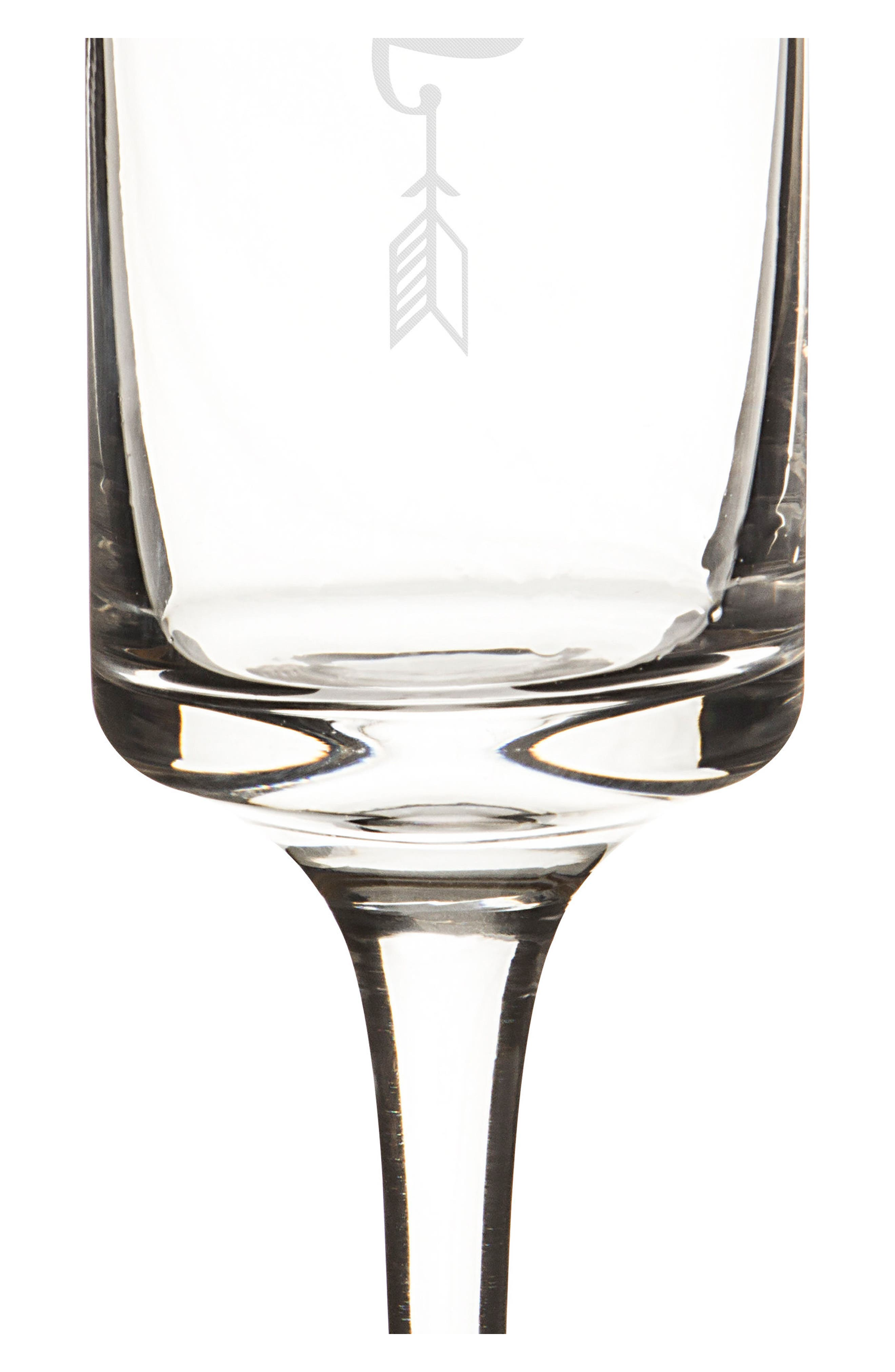 Hubby/Wifey Set of 2 Champagne Flutes,                             Alternate thumbnail 2, color,                             710