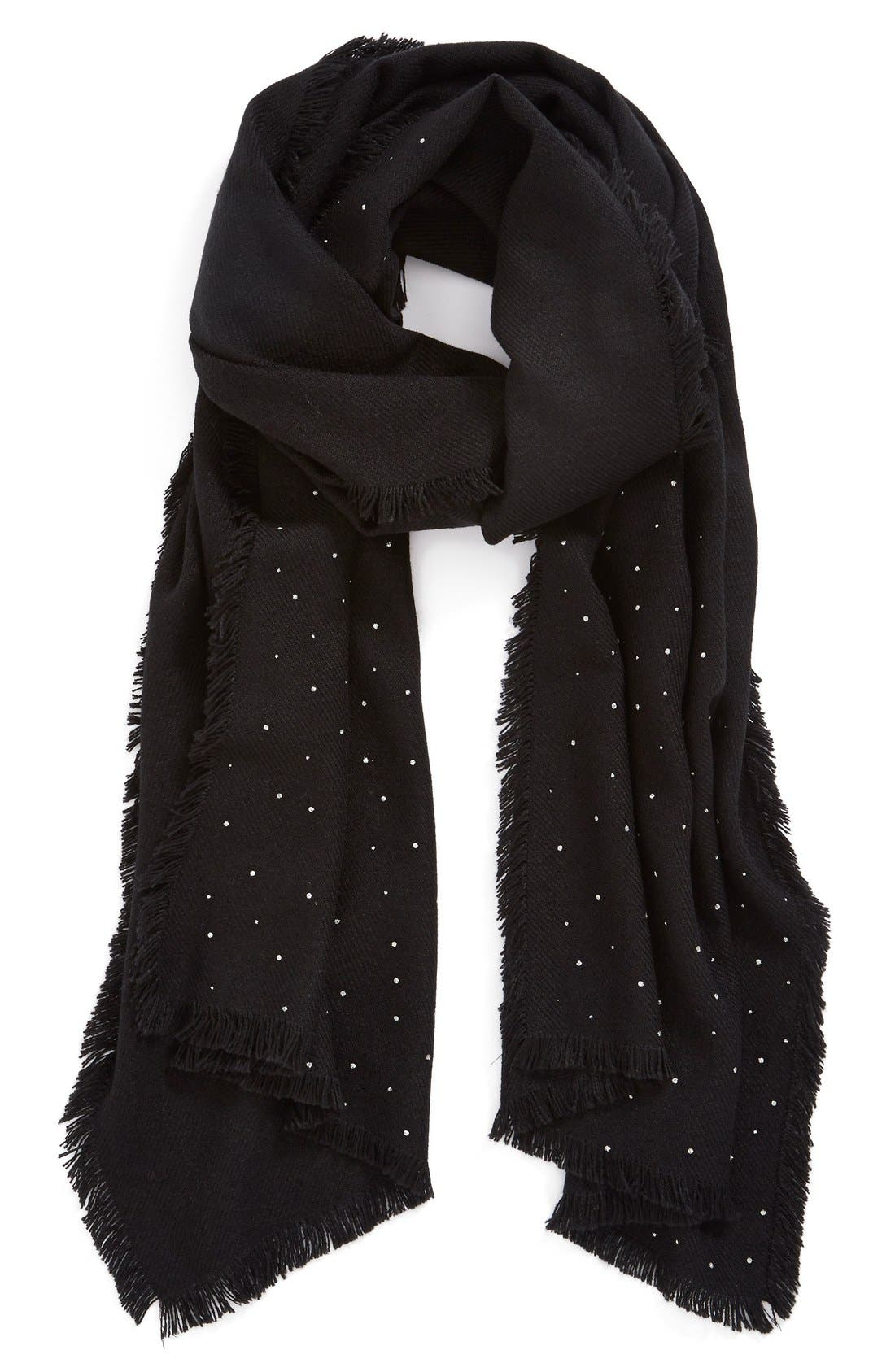 HALOGEN<SUP>®</SUP>,                             'Glitter Shine' Scarf,                             Alternate thumbnail 3, color,                             001