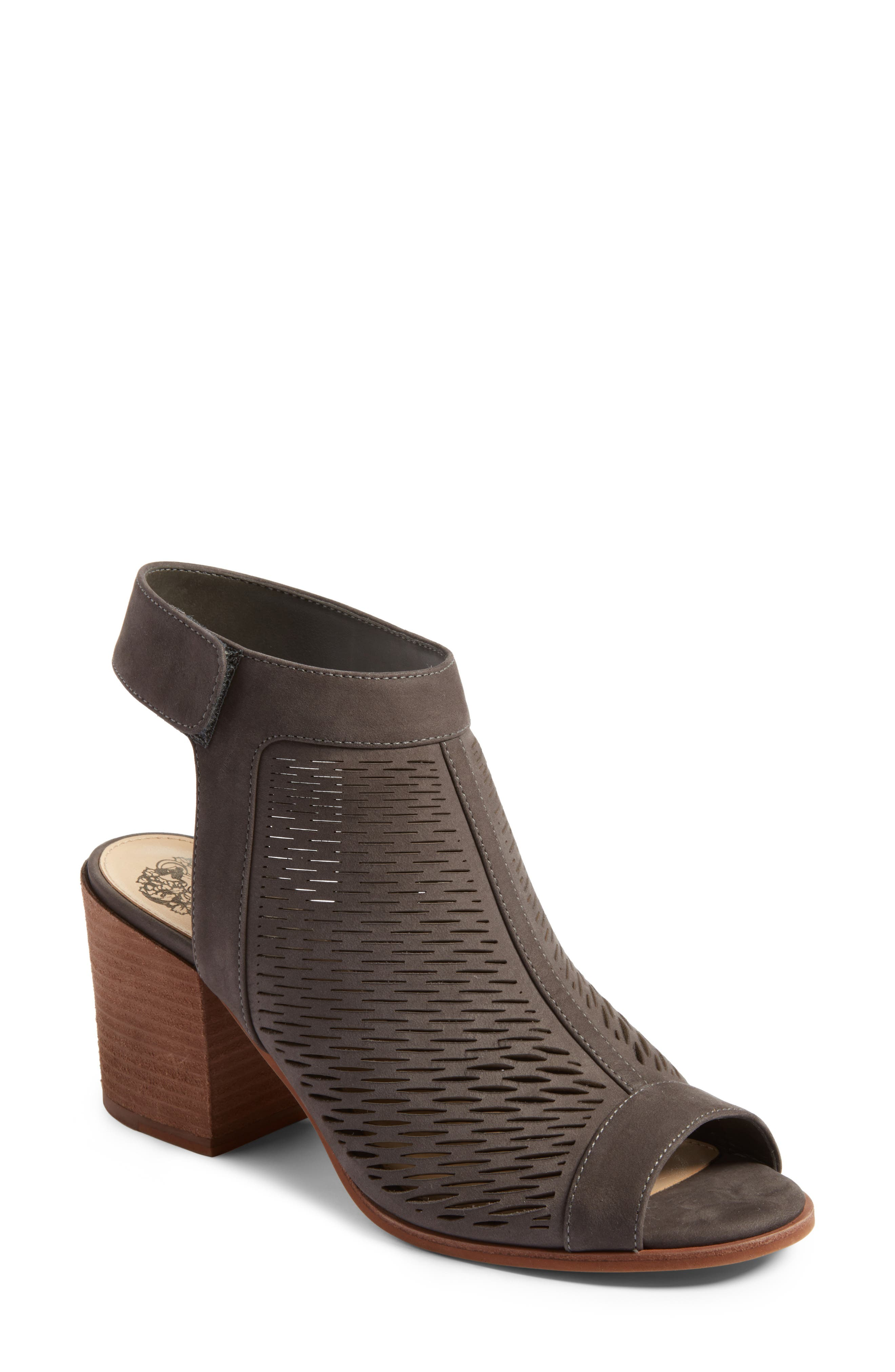 'Lavette' Perforated Peep Toe Bootie,                             Main thumbnail 2, color,