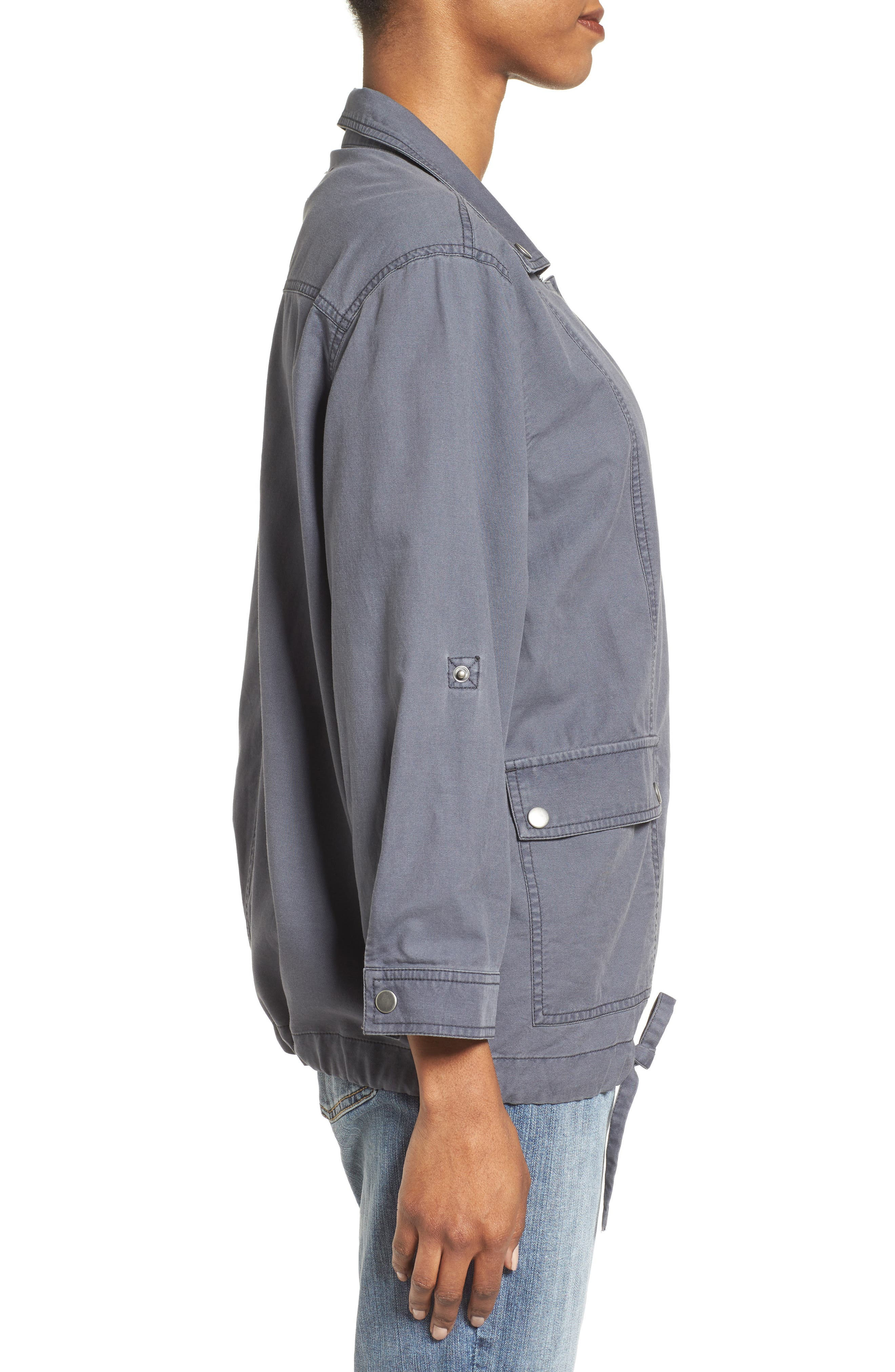Roll Sleeve Utility Jacket,                             Alternate thumbnail 3, color,                             030