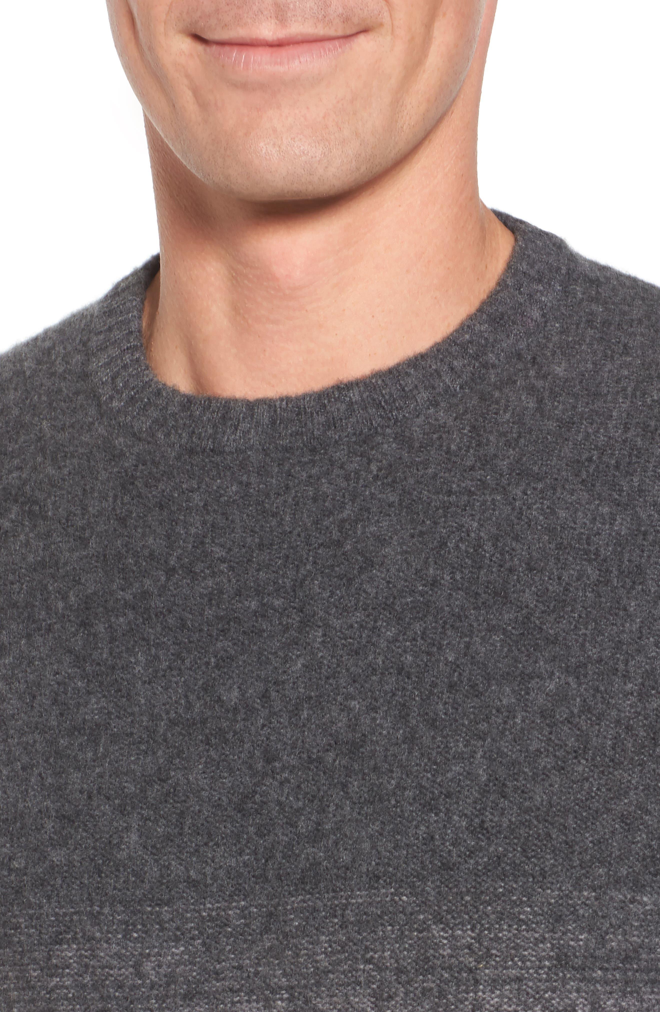 Monte Rosse Ombré Cashmere Sweater,                             Alternate thumbnail 4, color,                             030