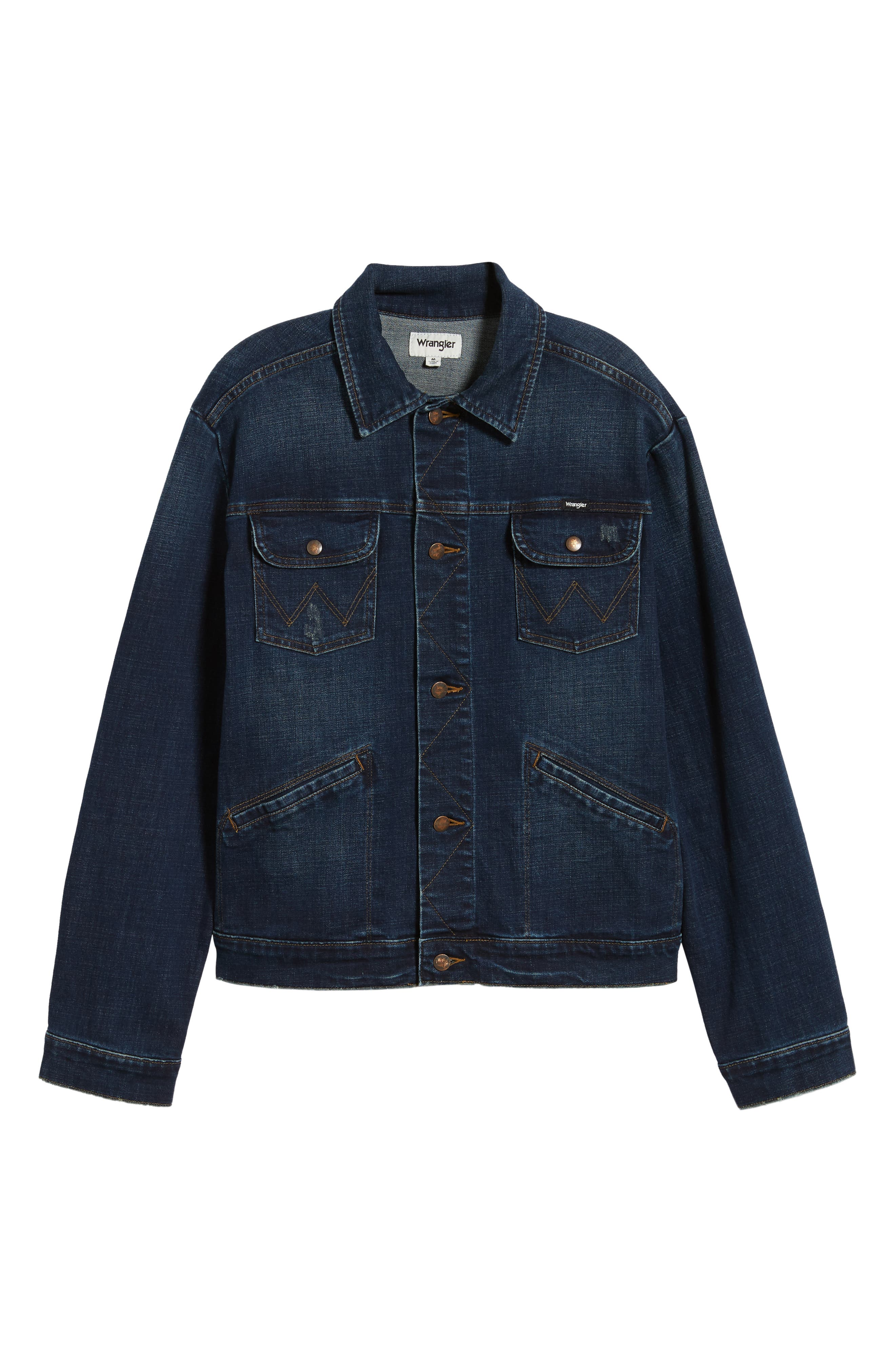 Heritage Denim Jacket,                             Alternate thumbnail 6, color,                             DARK WASH