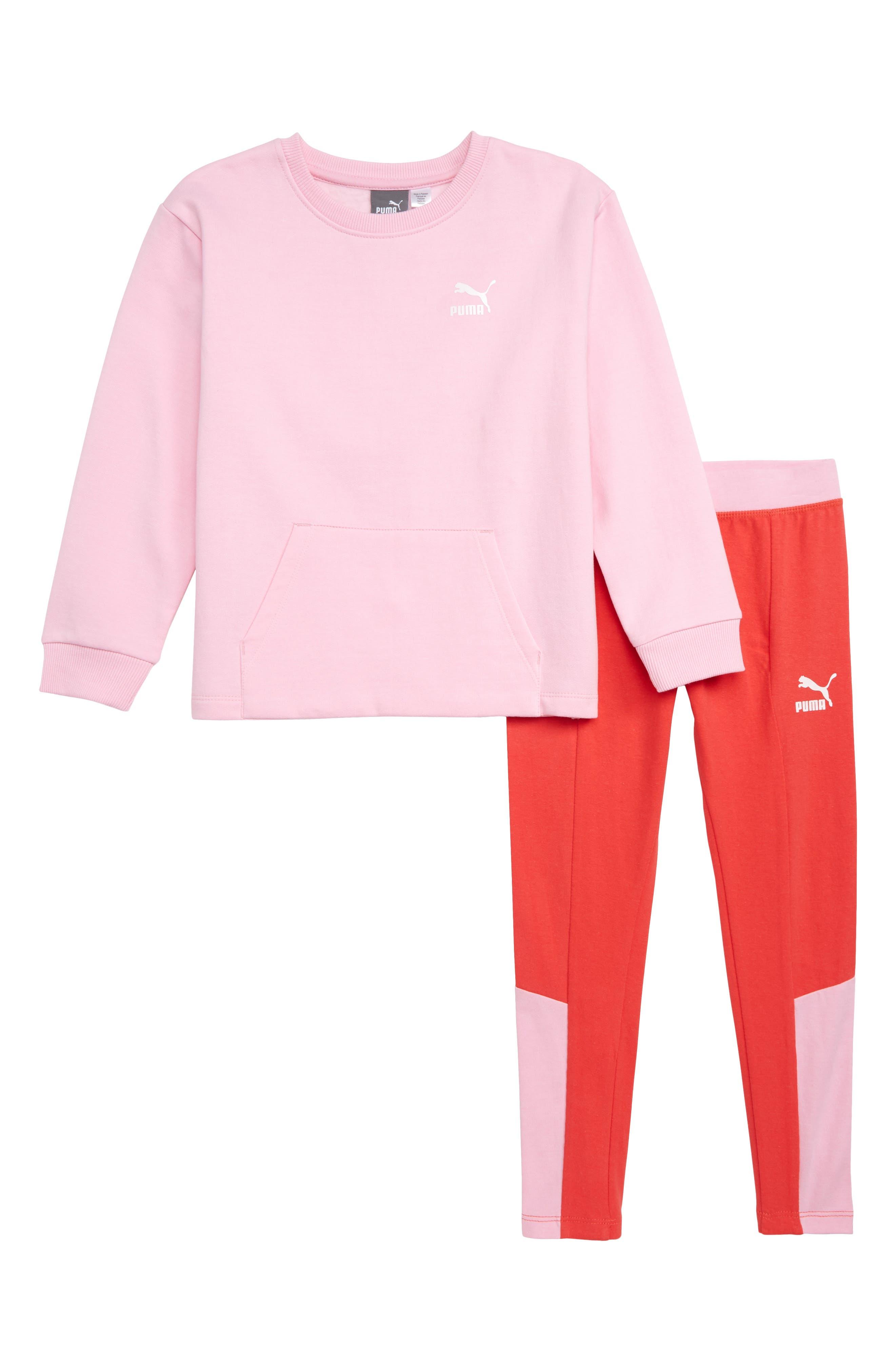 Girls Puma Graphic Sweatshirt  Leggings Set