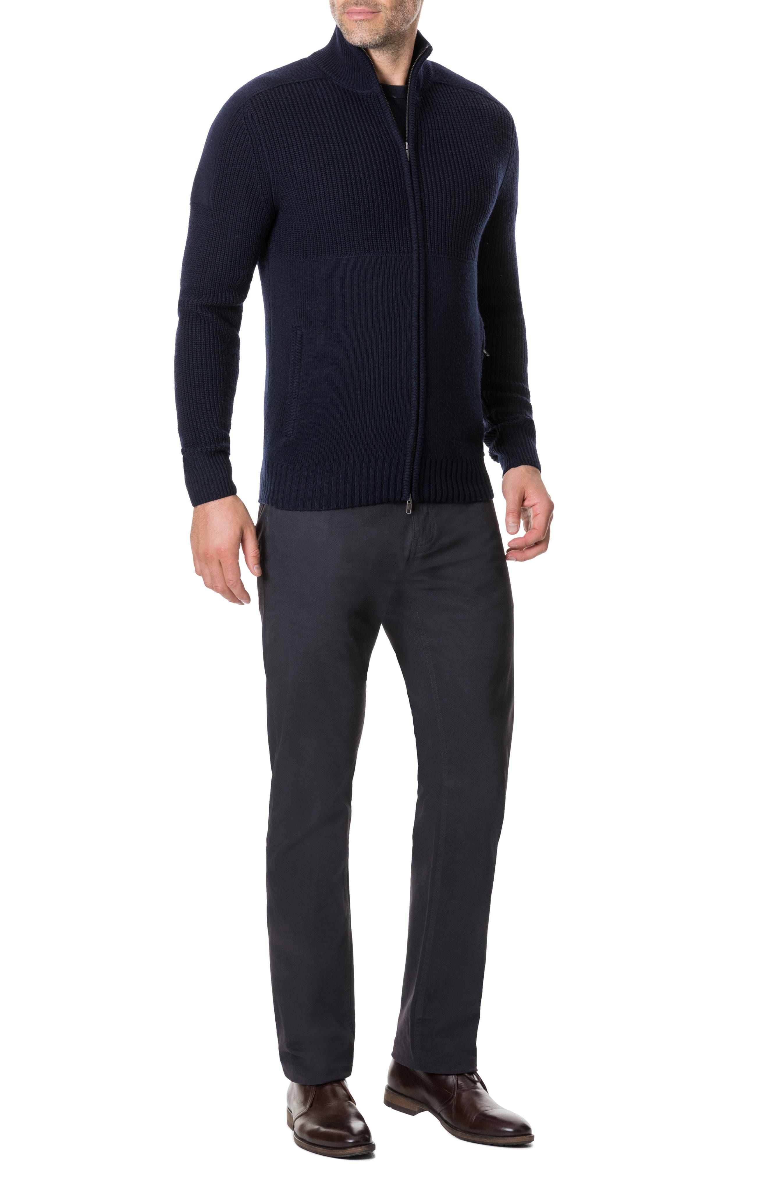 Kina Beach Merino Wool Zip Sweater,                             Alternate thumbnail 5, color,                             400