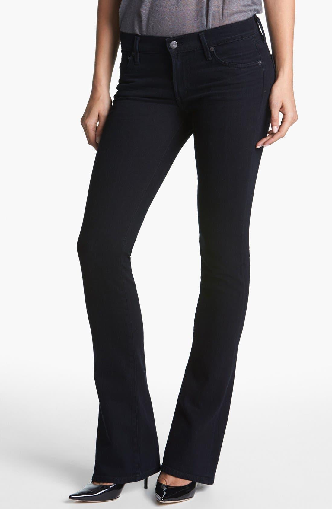 'Emmanuelle' Slim Bootcut Jeans,                             Main thumbnail 1, color,                             FREEFALL