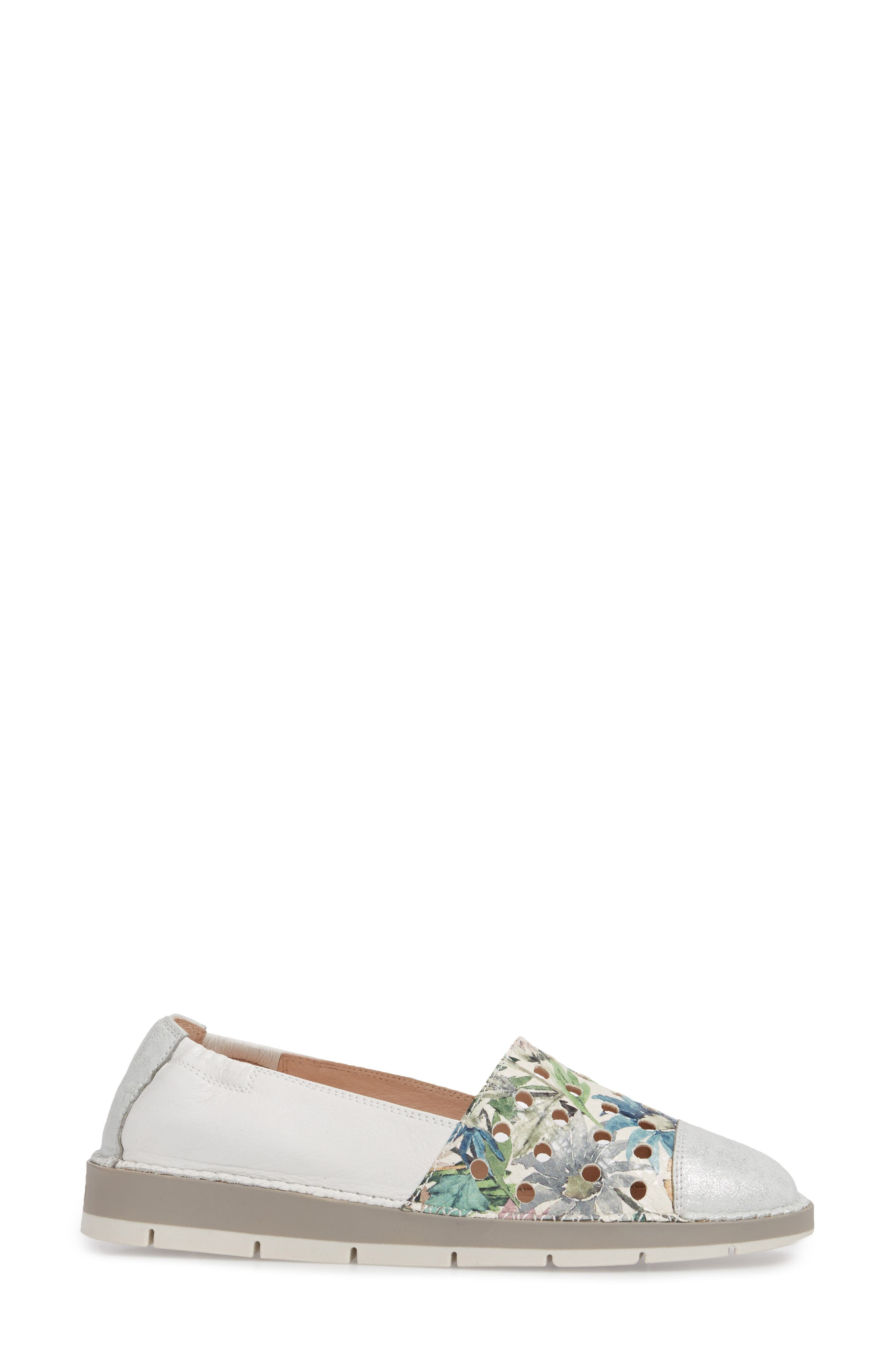Maiko Flat,                             Alternate thumbnail 3, color,                             STAR SILVER/ BLOSSOM LEATHER