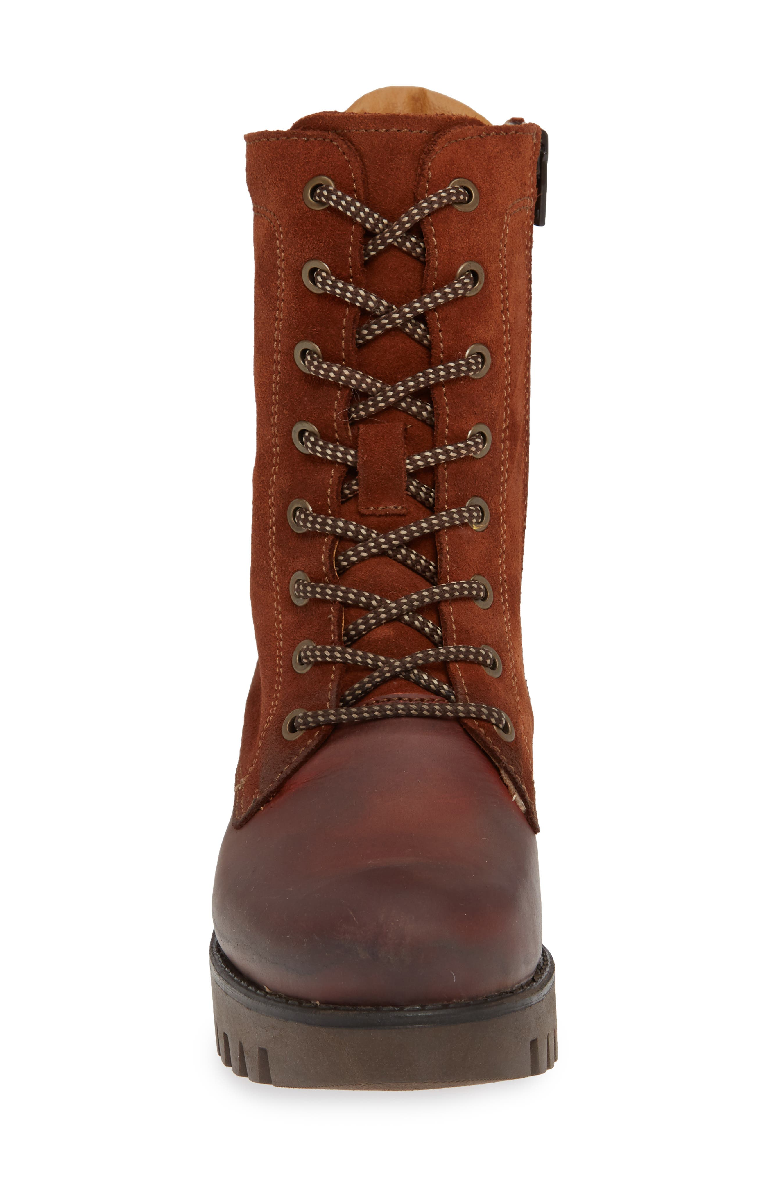 BOS. & CO.,                             Guide Waterproof & Insulated Hiking Boot,                             Alternate thumbnail 4, color,                             RUST SUEDE
