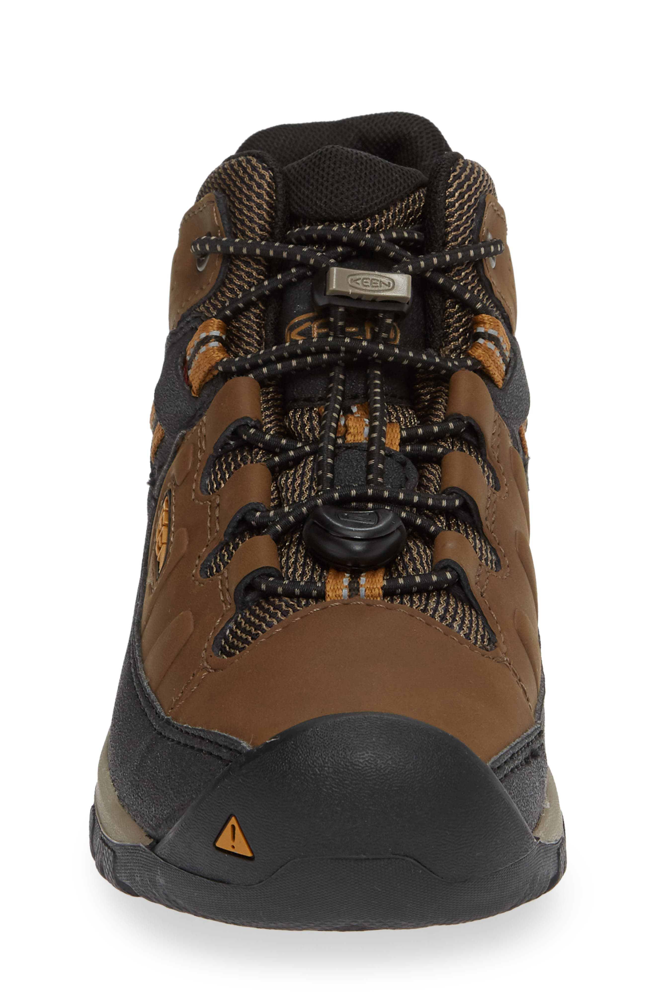 Targhee Mid Waterproof Hiking Boot,                             Alternate thumbnail 4, color,                             DARK EARTH/ GOLDEN BROWN