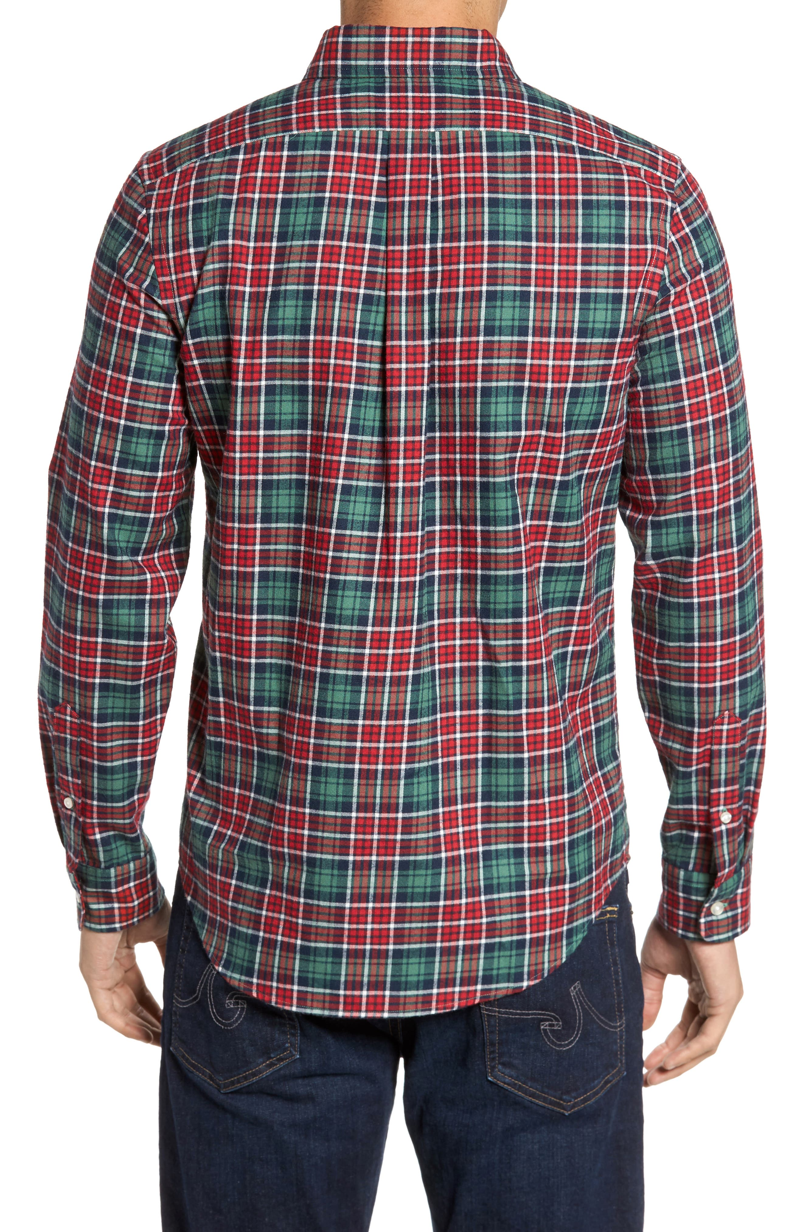 Tucker Bold Point Slim Fit Plaid Sport Shirt,                             Alternate thumbnail 2, color,                             342