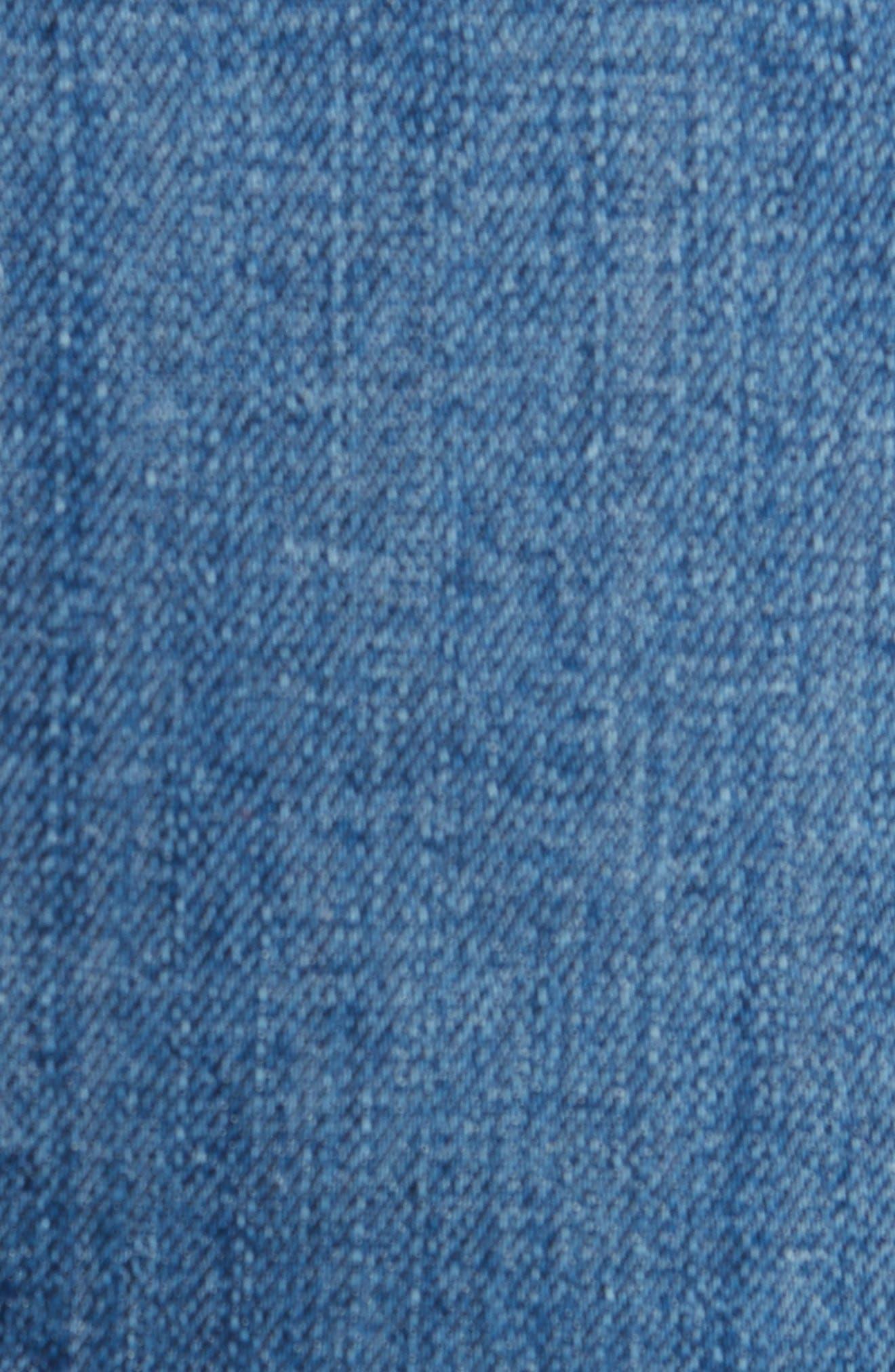 The Dre Crop Fray Hem Slim Fit Boyfriend Jeans,                             Alternate thumbnail 5, color,                             LOVIE