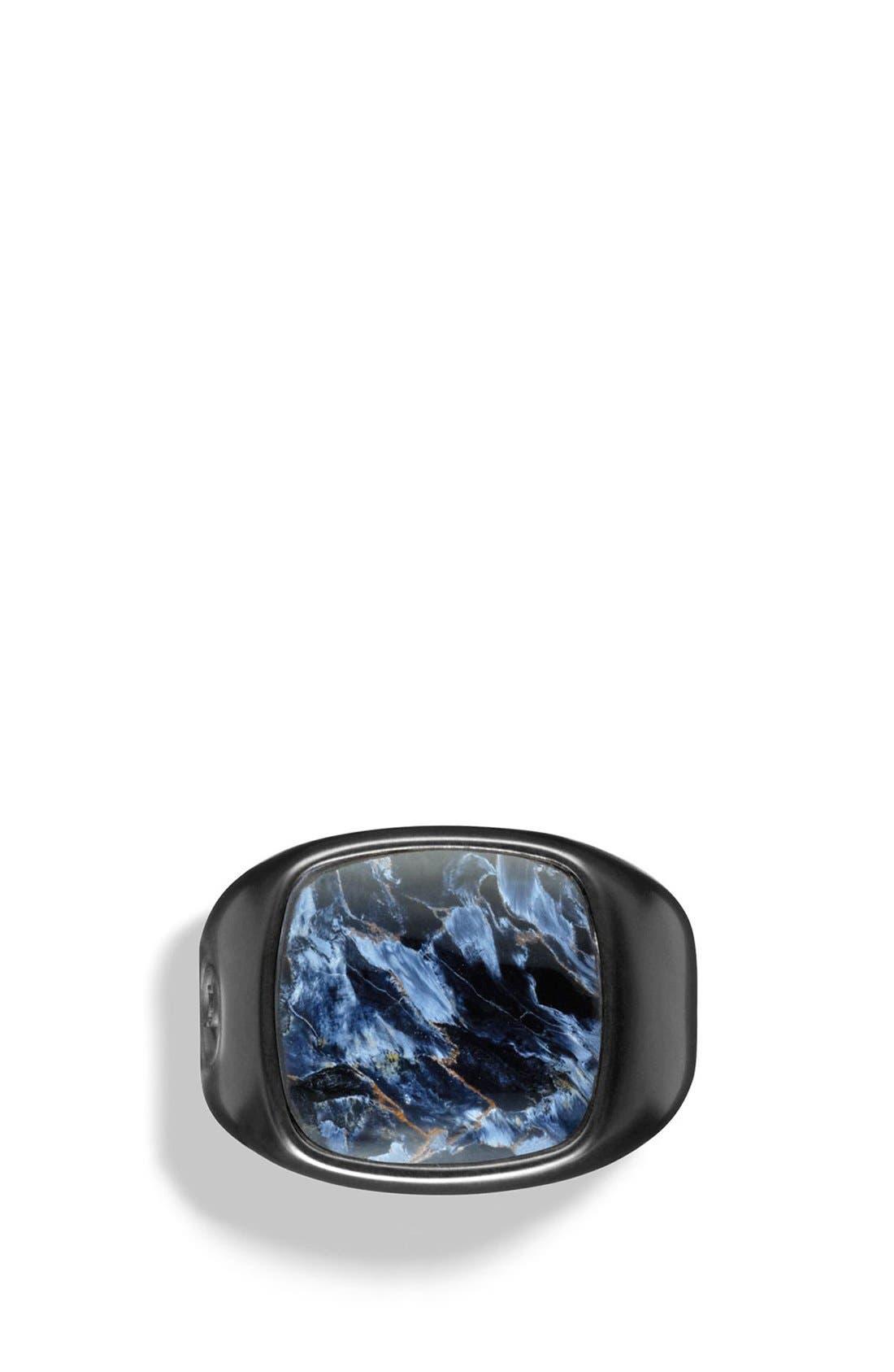 'Exotic Stone' Signet Ring,                             Alternate thumbnail 4, color,                             PIETERSITE