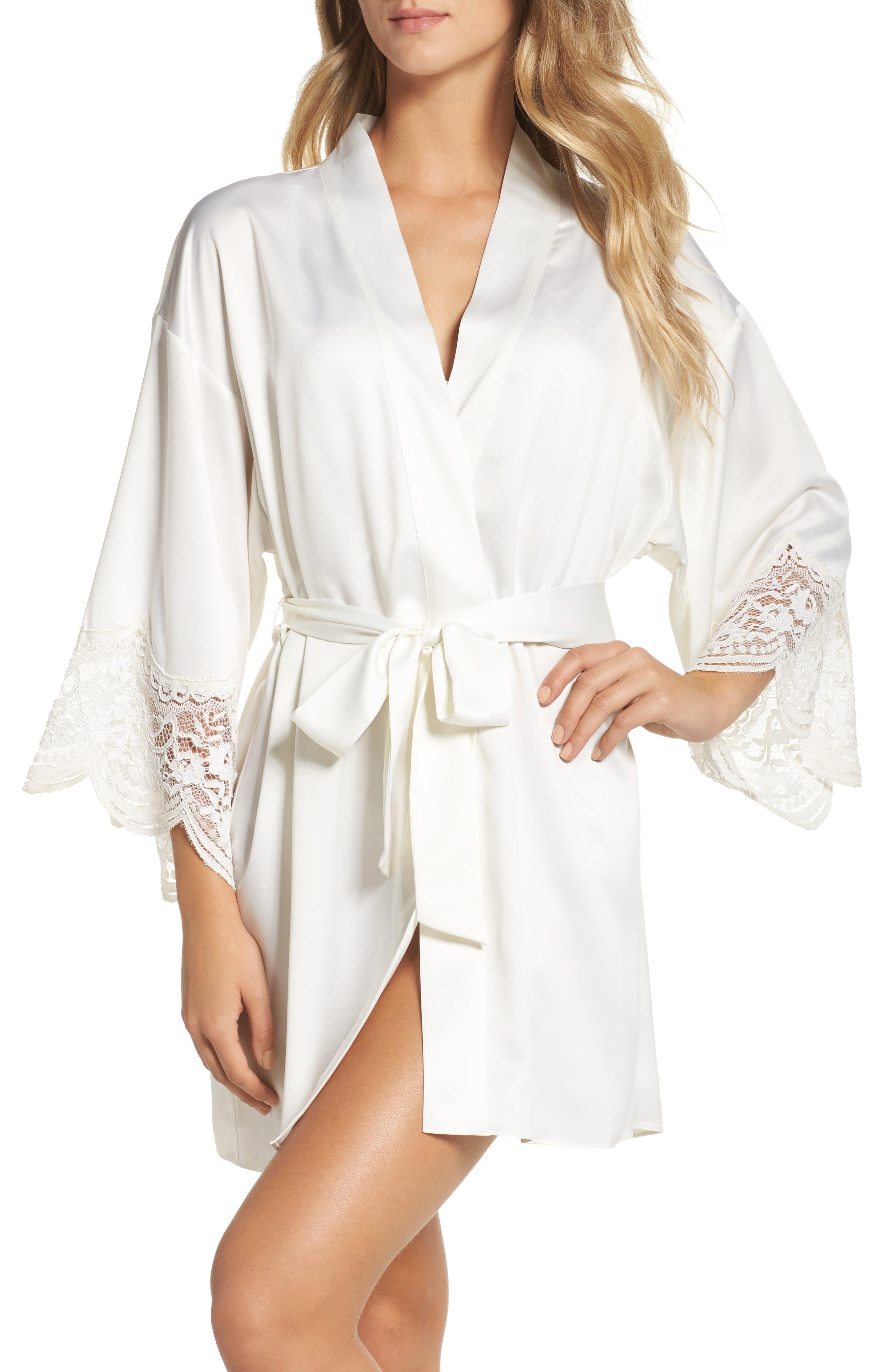 Monica Satin Kimono Robe,                             Main thumbnail 1, color,                             900