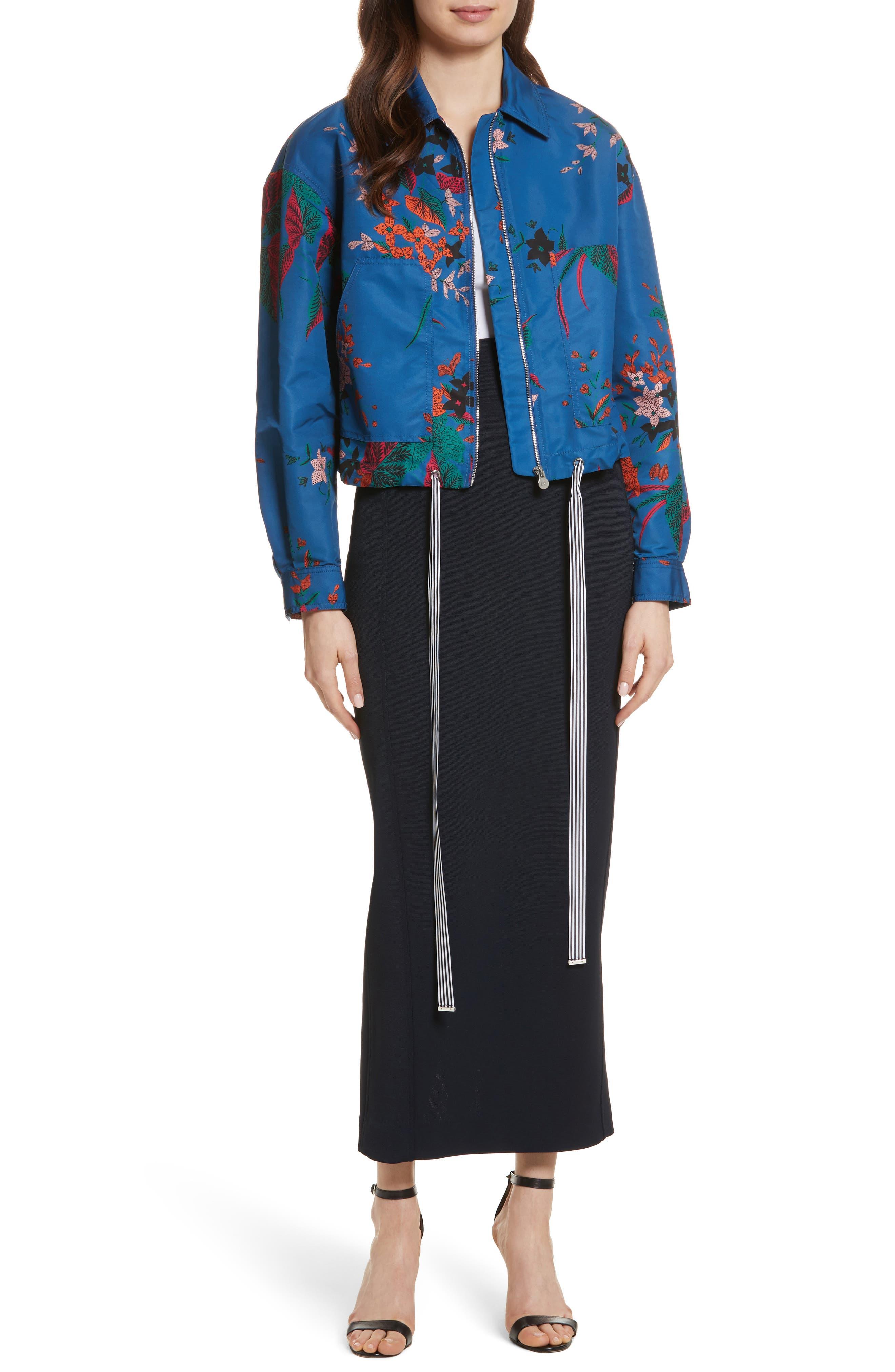 Diane von Furstenberg Fitted Midi Skirt,                             Alternate thumbnail 7, color,