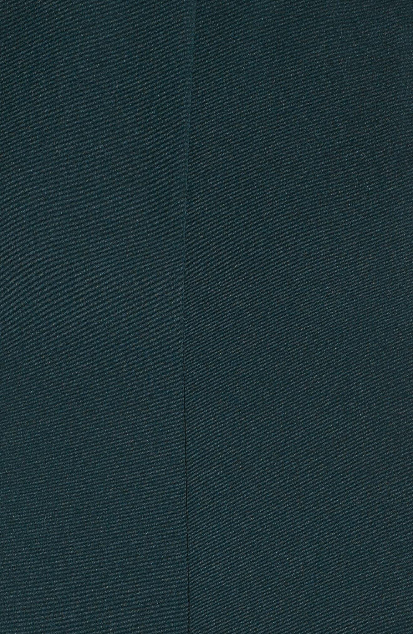 Embellished Fit & Flare Dress,                             Alternate thumbnail 6, color,                             EMERALD