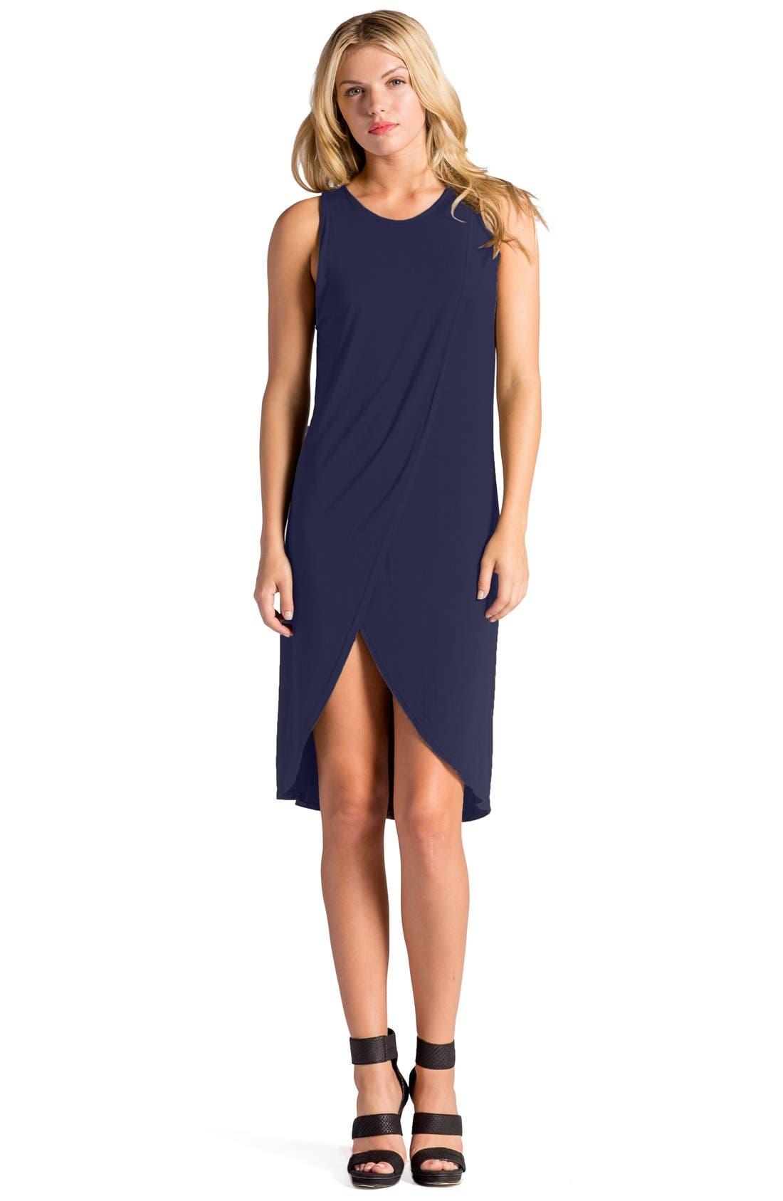 Elba Asymmetrical Hem Sleeveless Jersey Dress,                             Alternate thumbnail 13, color,