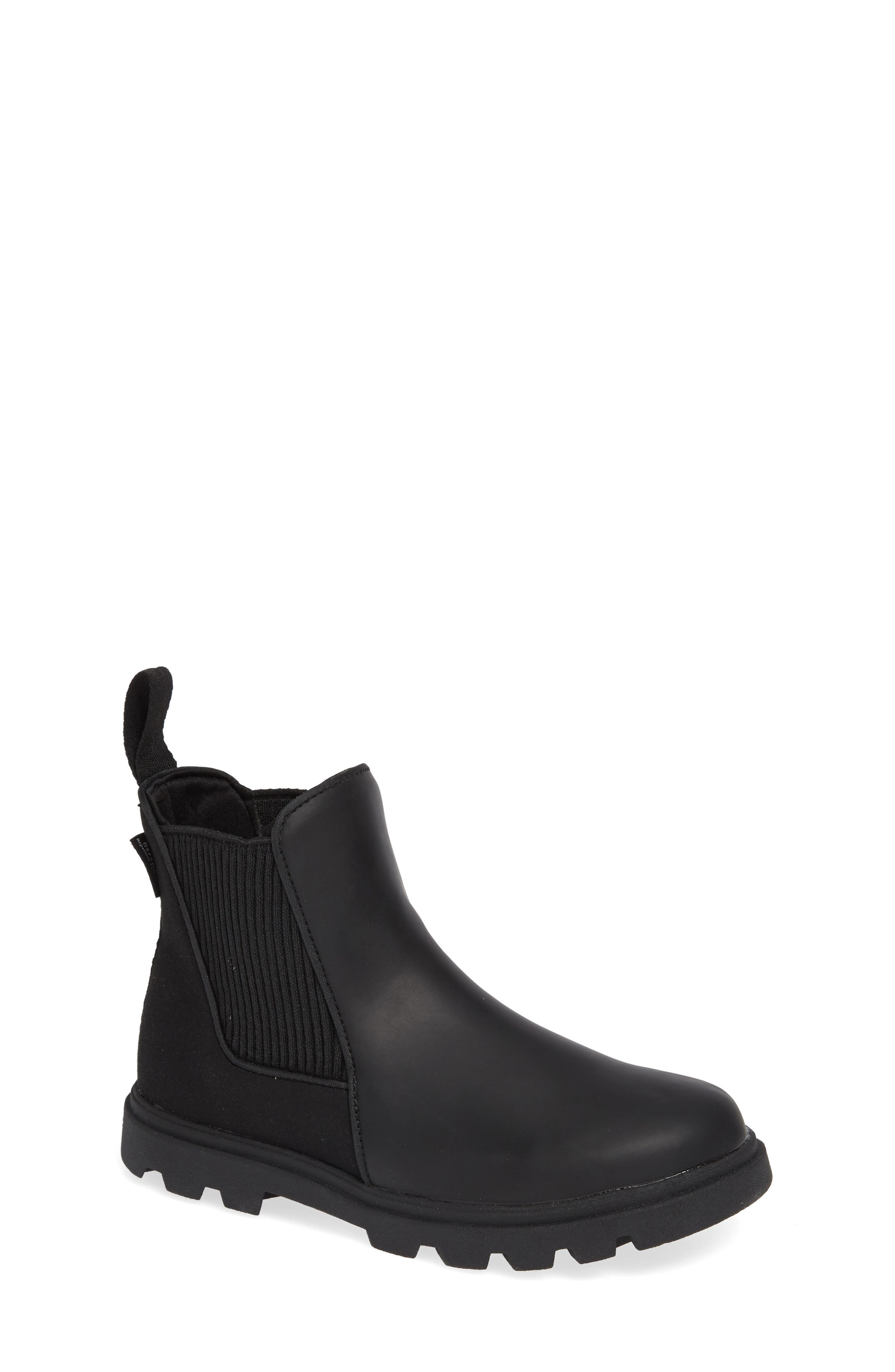Kensington Treklite Vegan Leather Chelsea Bootie,                             Main thumbnail 1, color,                             JIFFY BLACK