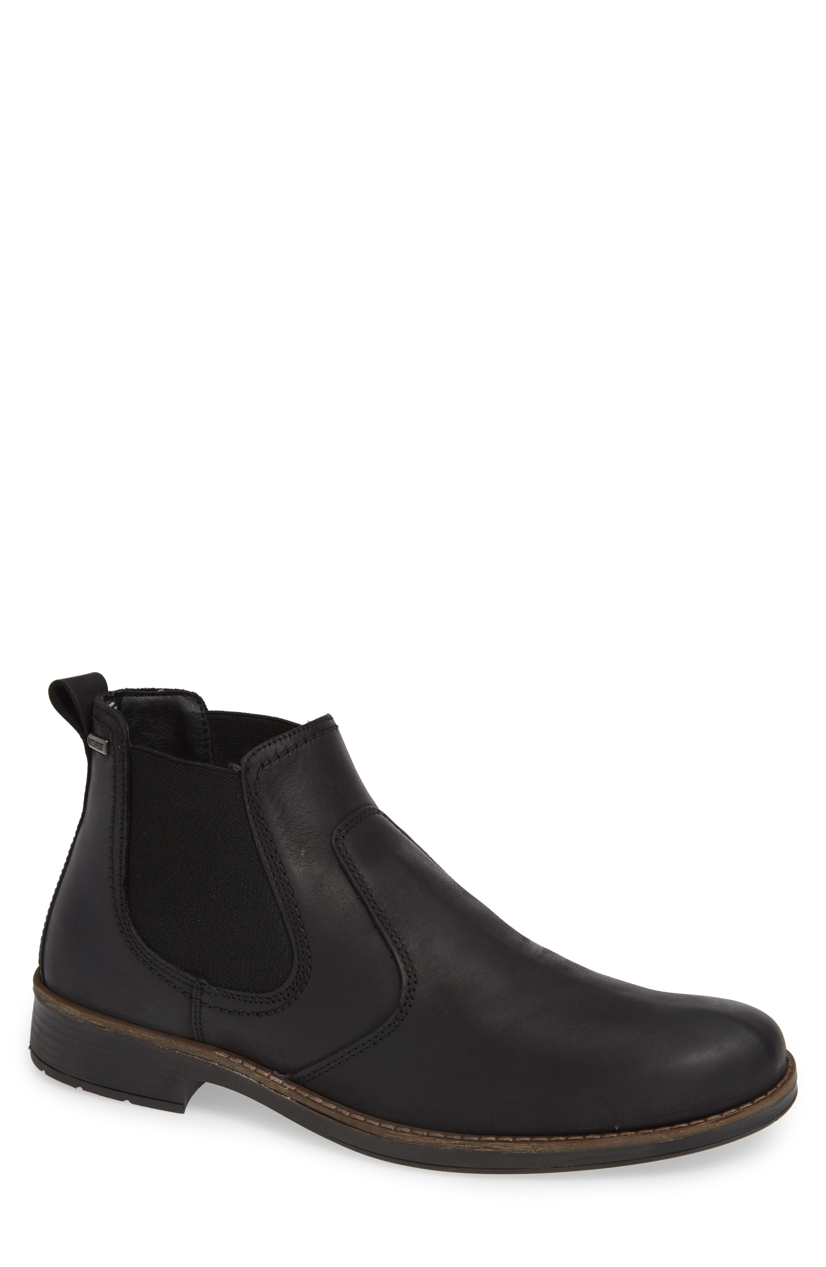 Maple Waterproof Chelsea Boot,                             Main thumbnail 1, color,                             BLACK LEATHER
