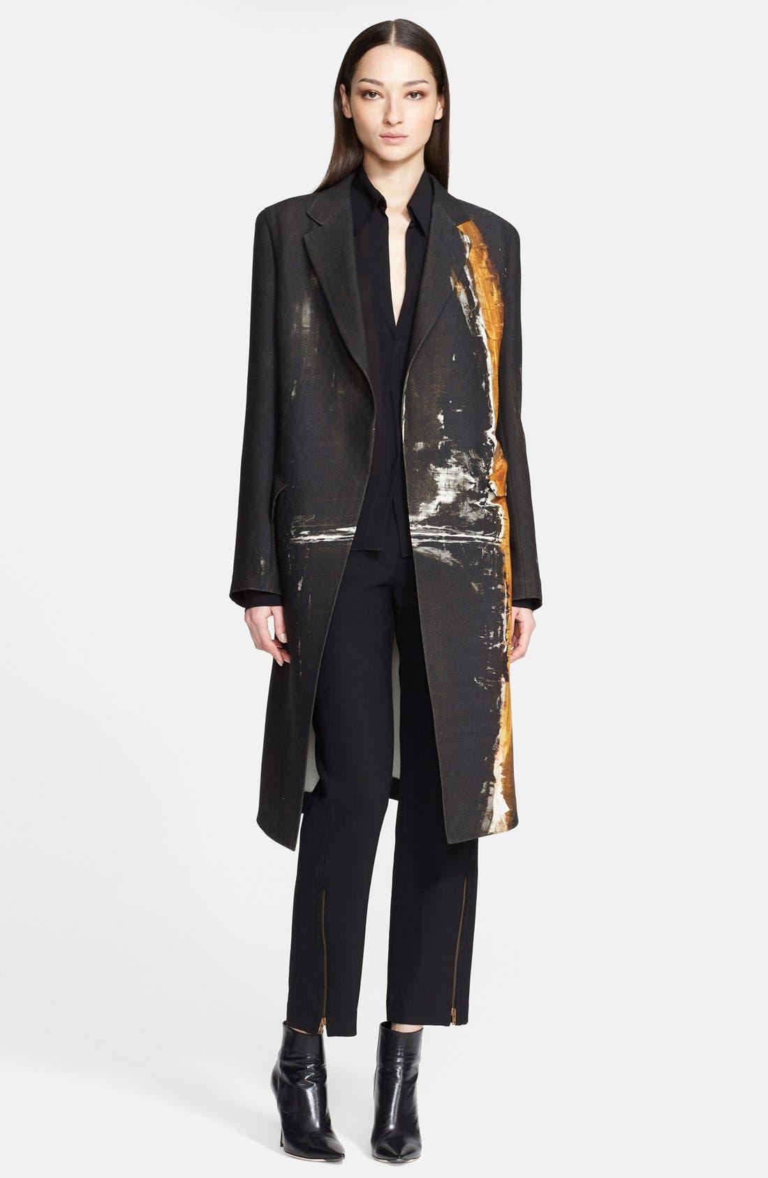 Donna Karan Collection 'Raku Brushstroke' Wool & Silk Jacket, Main, color, 001